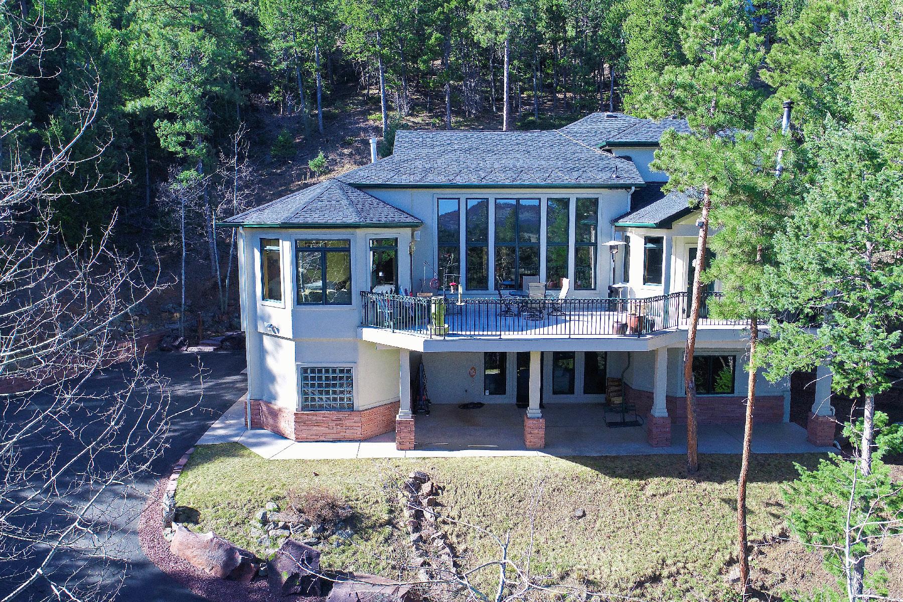 Casa Unifamiliar por un Venta en Custom Mountain Home! 23728 Inca Road Indian Hills, Colorado 80454 Estados Unidos