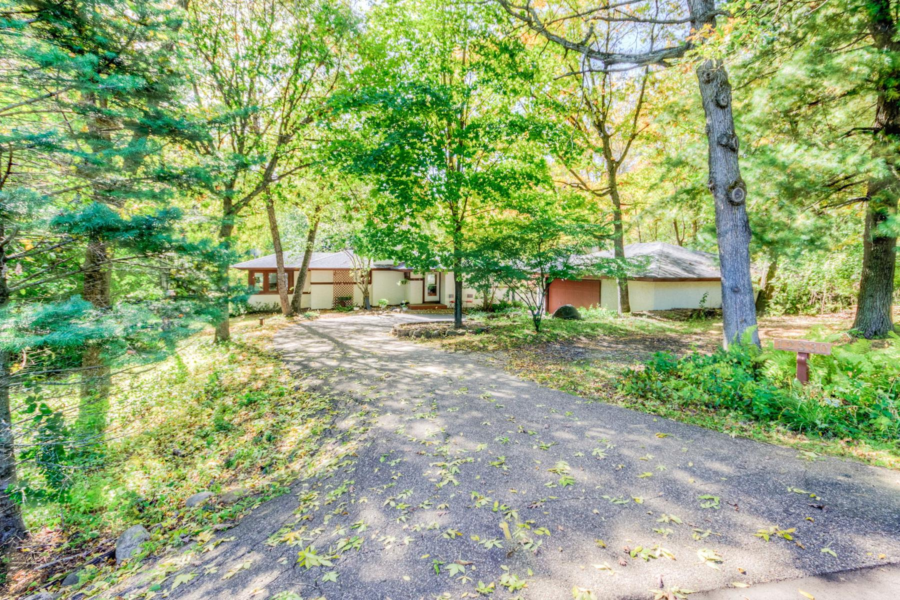 Single Family Homes for Sale at Private Home Situated on 3.23 Lush Acres in Lakeville 12330 162nd Street W Lakeville, Minnesota 55044 United States