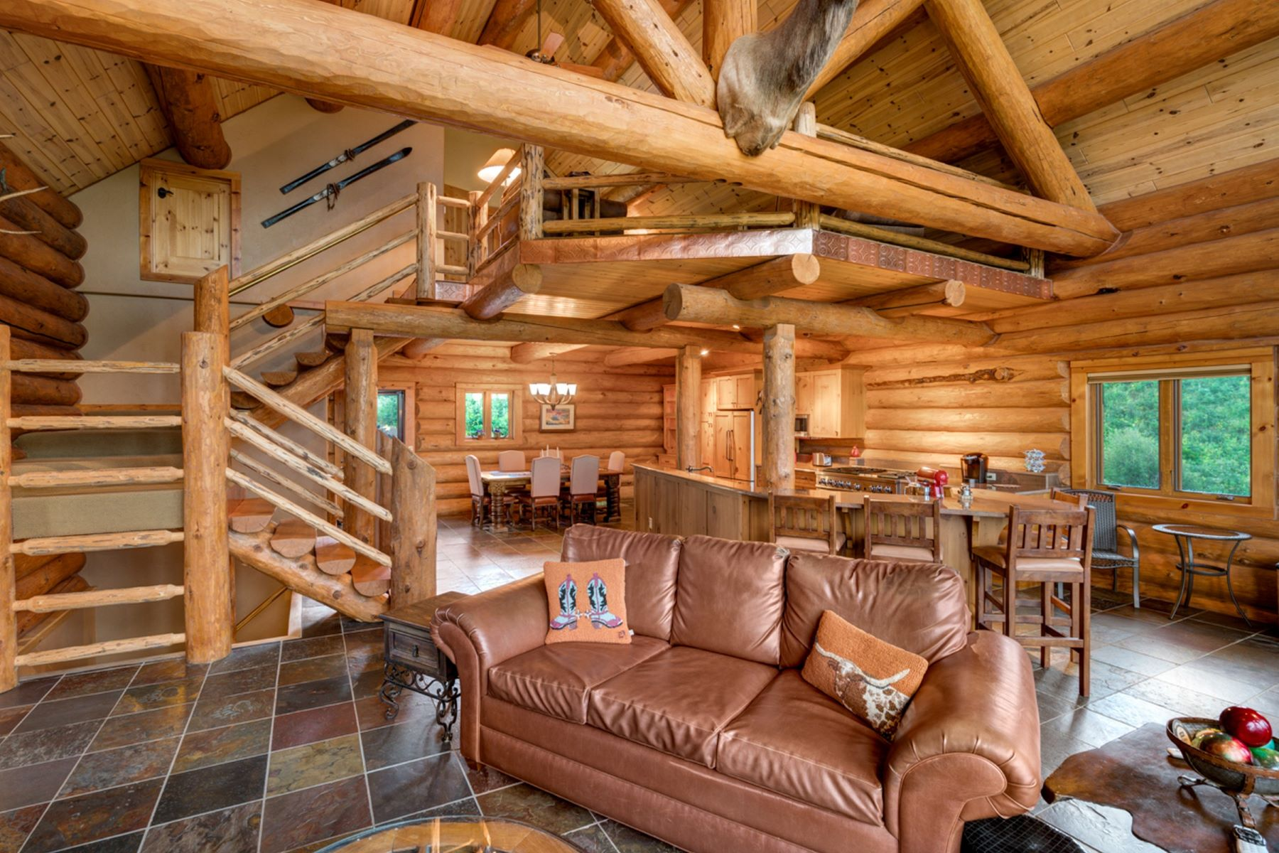 Additional photo for property listing at Epic Rocky Mountain Log Home 47505 County Road 52W Steamboat Springs, Colorado 80487 United States