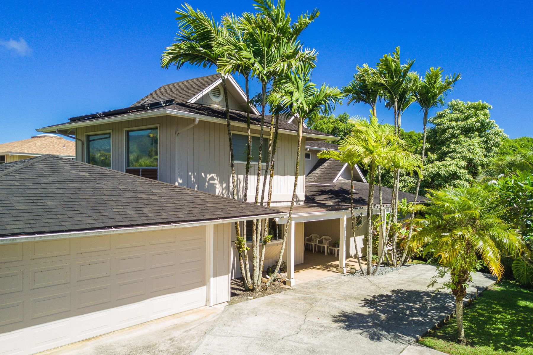 Single Family Home for Sale at Three Bedroom Home with Mountain, Waterfall, Ocean Horizon Views in Princeville 4194 Kekuanaoa Lane Princeville, Hawaii 96722 United States