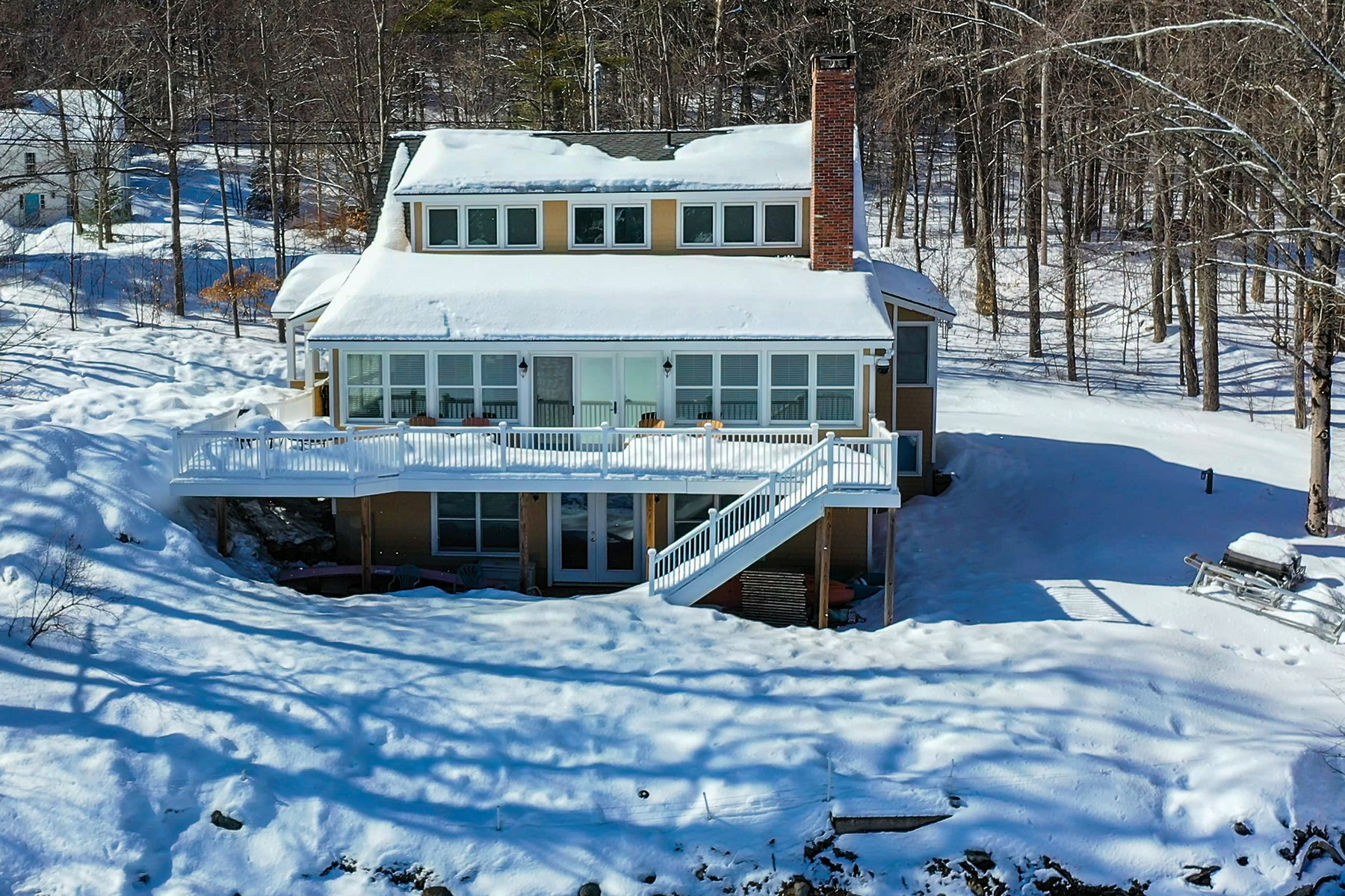 Single Family Home for Sale at 200+ Feet of Frontage on Lake Rescue 1450 Route 100 North Ludlow, Vermont 05149 United States