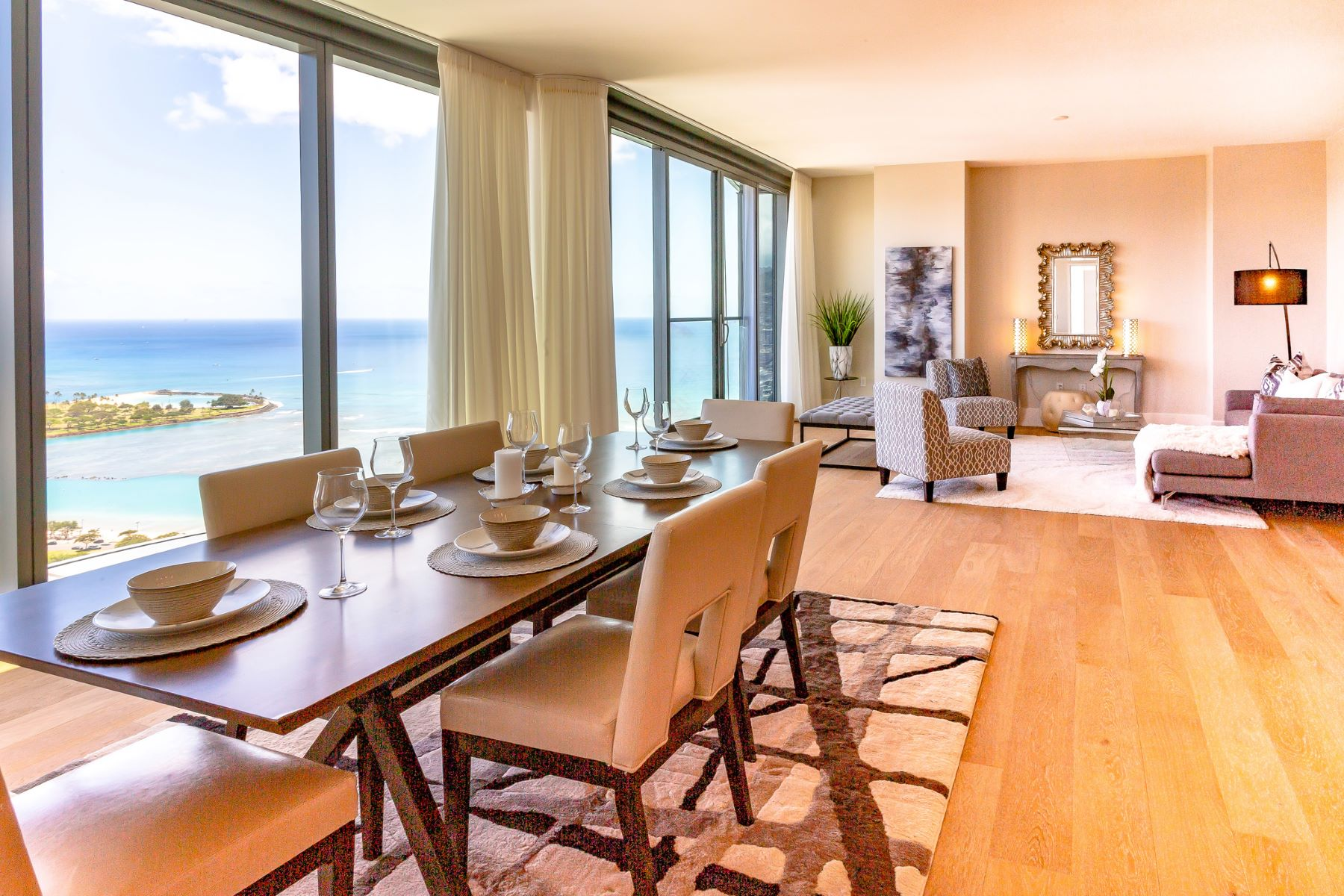 Condominiums for Active at High Rise Condo, Luxury Condo, Penthouse, Anaha, Ward Village, Ocean View 1108 Auahi St #PH 3602 Honolulu, Hawaii 96814 United States