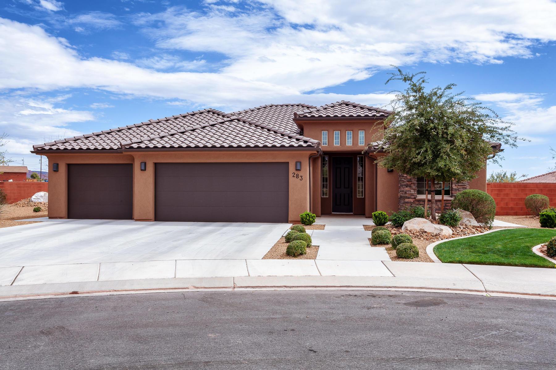 Casa Unifamiliar por un Venta en Home with Views in Quail Cove 283 W Pheasant Ct. Ivins, Utah, 84738 Estados Unidos