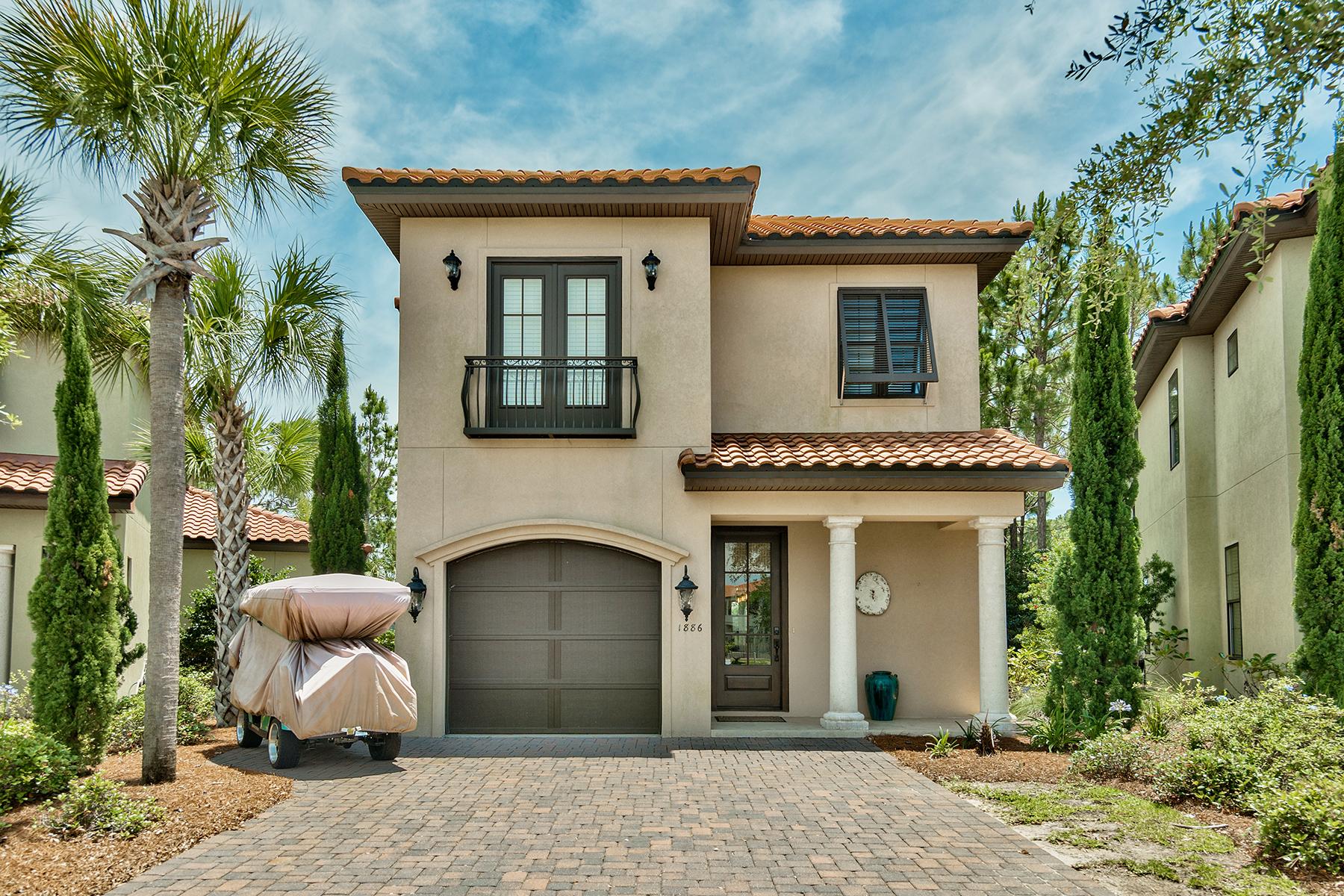 Частный односемейный дом для того Продажа на NATURAL INTERIOR DECOR COMPLIMENTS BEAUTIFUL OUTDOOR LIVING ON GOLF COURSE 1886 Baytowne Loop Miramar Beach, Флорида, 32550 Соединенные Штаты