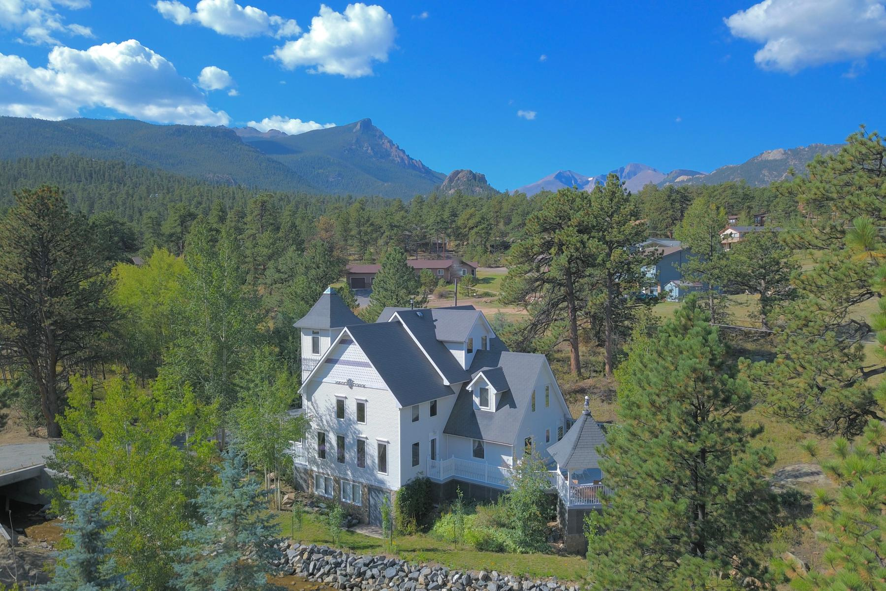 Single Family Home for Active at Three Story Victorian Home On Fish Creek 2809 Fish Creek Rd Estes Park, Colorado 80517 United States