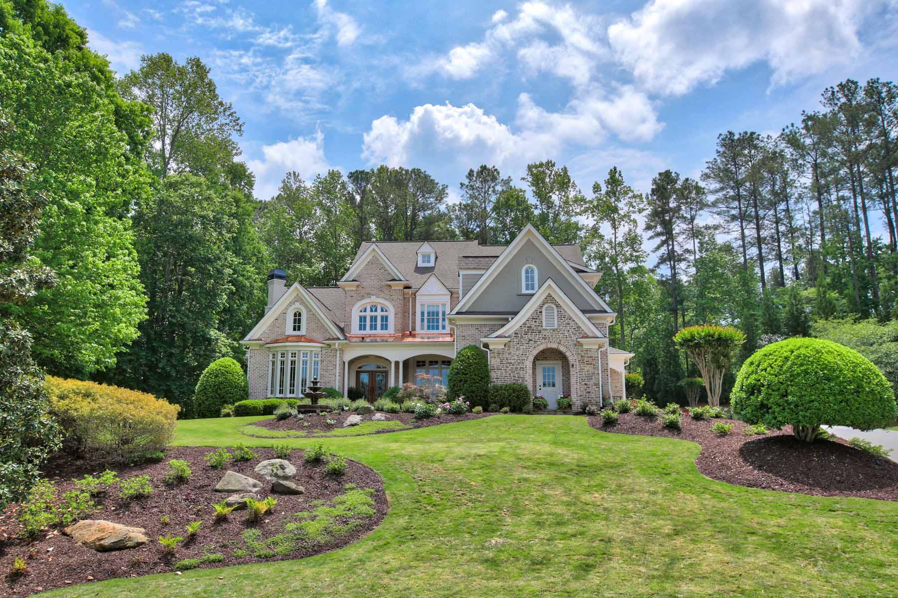 Maison unifamiliale pour l Vente à Stunning Estate Home On Golf Course in White Columns 1270 Rolling Links Drive Milton, Georgia, 30004 États-Unis