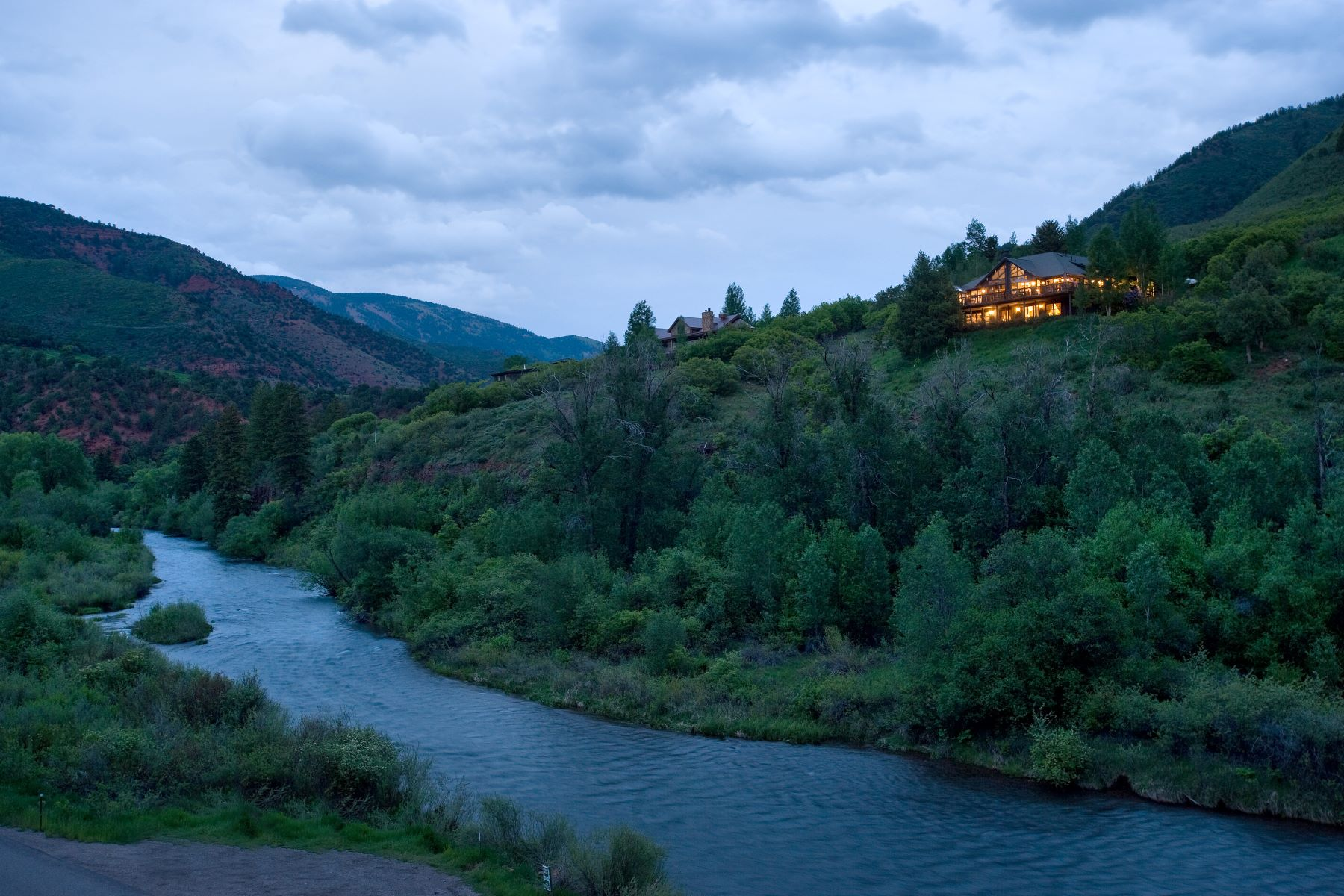 Single Family Homes for Sale at Located on the Frying Pan River 403 Big Hat Road Basalt, Colorado 81621 United States