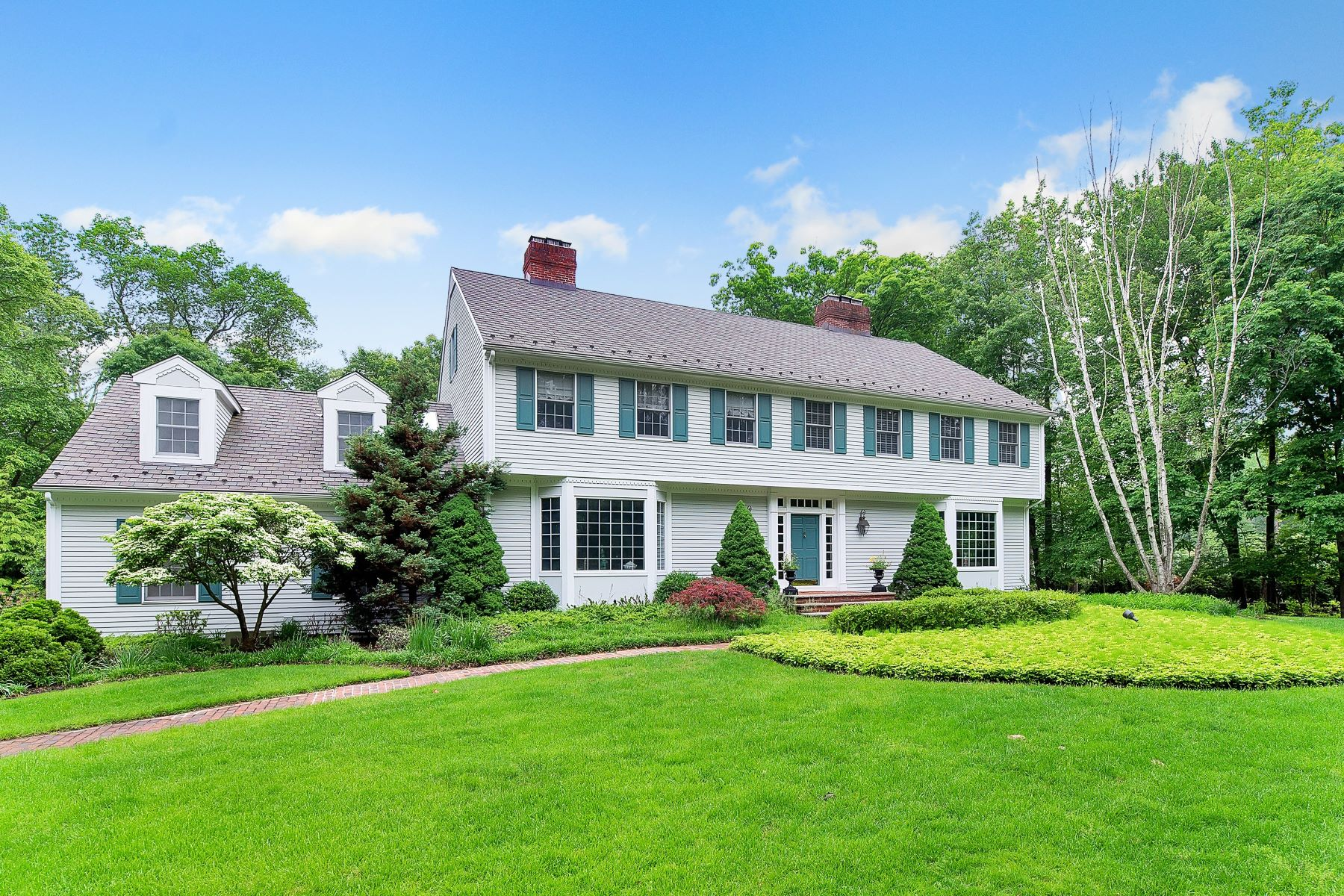 Single Family Homes for Sale at Classic Center Hall Colonial 21 Cameron Rd Saddle River, New Jersey 07458 United States