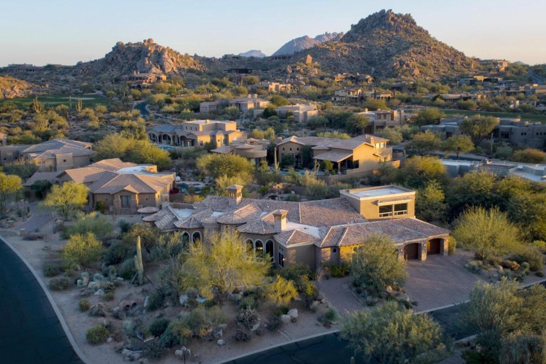 Single Family Home for Sale at Architecturally Beautiful Custom Home 10303 E MARK LN 21, Scottsdale, Arizona, 85262 United States