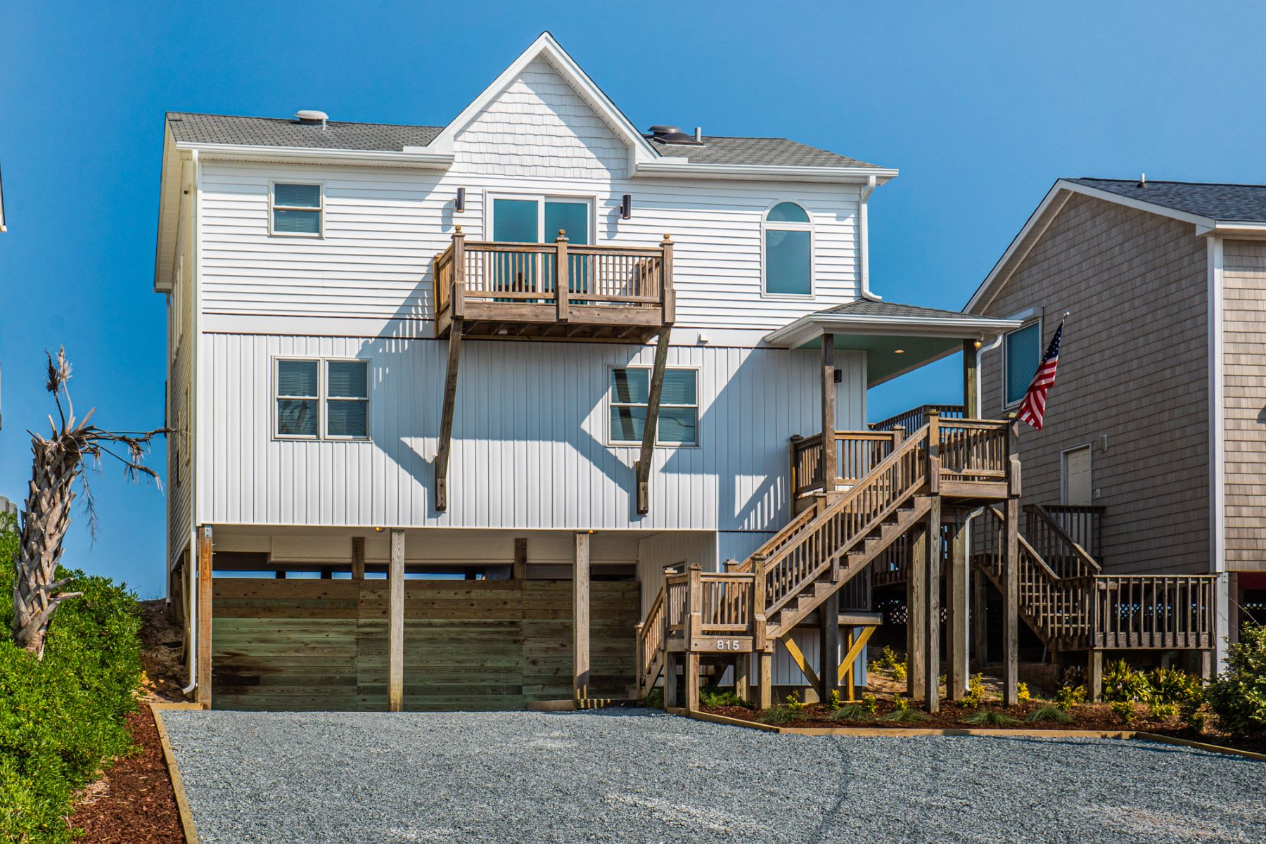Single Family Homes for Active at Upgraded Oceanfront Farmhouse on Topsail Island 815 N Anderson Boulevard Topsail Beach, North Carolina 28445 United States