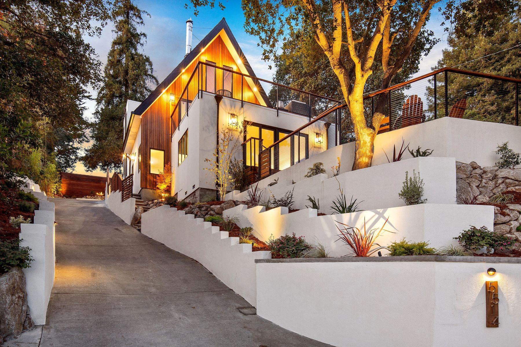 Single Family Homes for Sale at Spectacular Upper Rockridge Chalet 5514 Masonic Avenue Oakland, California 94618 United States
