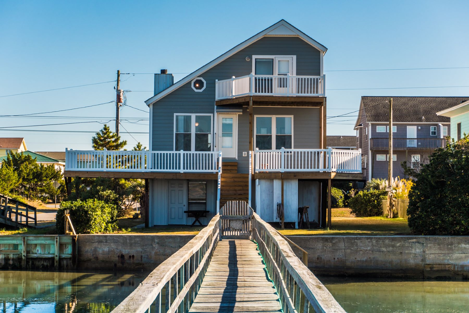 Single Family Home for Sale at Sound Front Beach House with Sweeping Intracoastal Views 1002 Carolina Blvd, Topsail Beach, North Carolina, 28445 United States