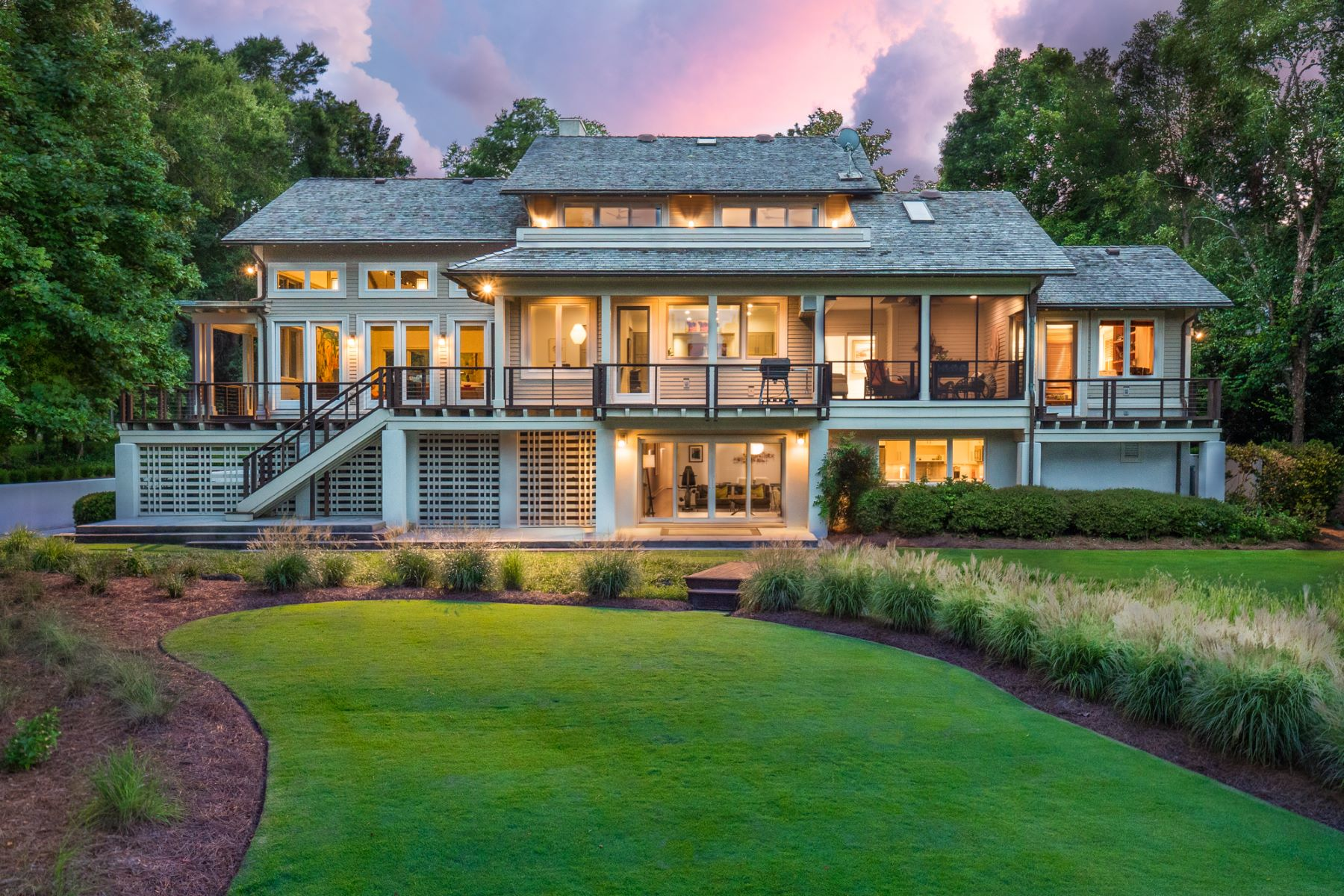Single Family Home for Active at Modern-Craftsman with Sweeping Water Views 2033 Balmoral Dr. Wilmington, North Carolina 28405 United States