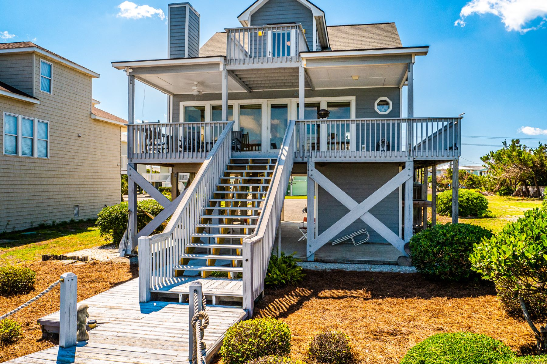 Single Family Homes for Active at Inviting Sound Front Property in Sea Path Shores 905 Sea Path Lane Topsail Beach, North Carolina 28445 United States