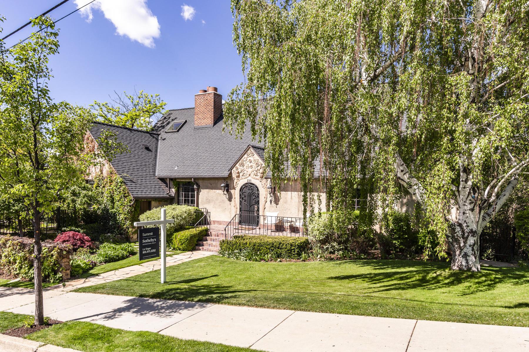 Single Family Homes for Sale at Georgius Cannon Timeless Tudor Estate 235 A Street Salt Lake City, Utah 84103 United States