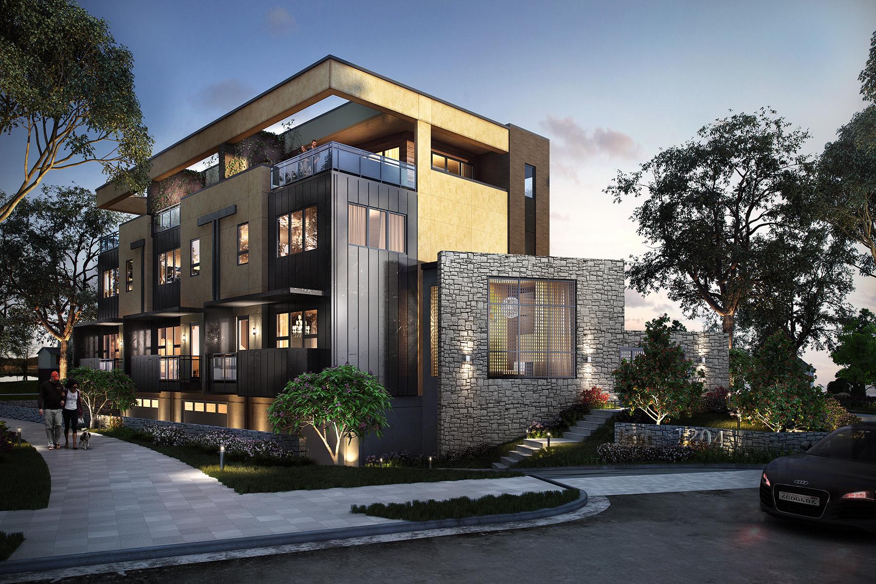 townhouses pour l Vente à Three Ultra Luxury Town-homes In Ansley Park 1204 Piedmont Avenue NE NO. 2, Atlanta, Georgia 30309 États-Unis