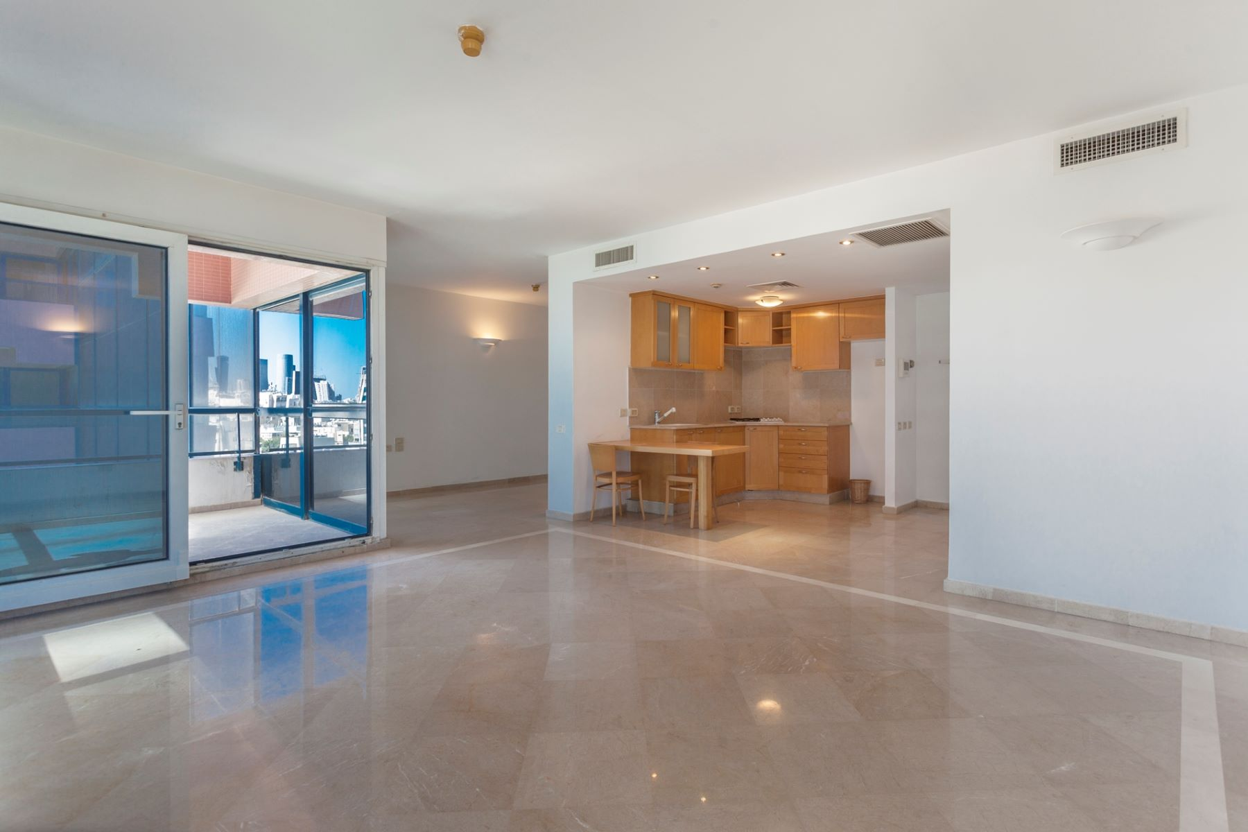 Additional photo for property listing at Serene Sea View Apartment in the first Sea line Tel Aviv, Israel Israel