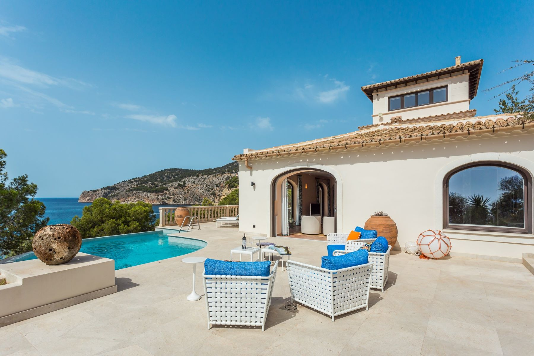 Single Family Homes for Sale at First line villa in Camp de Mar Port d Andratx, Balearic Islands Spain