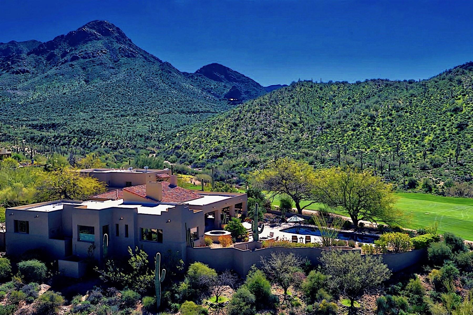 Einfamilienhaus für Verkauf beim Beautiful home nestled alongside the 14th fairway of Troon 10801 E Happy Valley Rd #124 Scottsdale, Arizona, 85255 Vereinigte Staaten