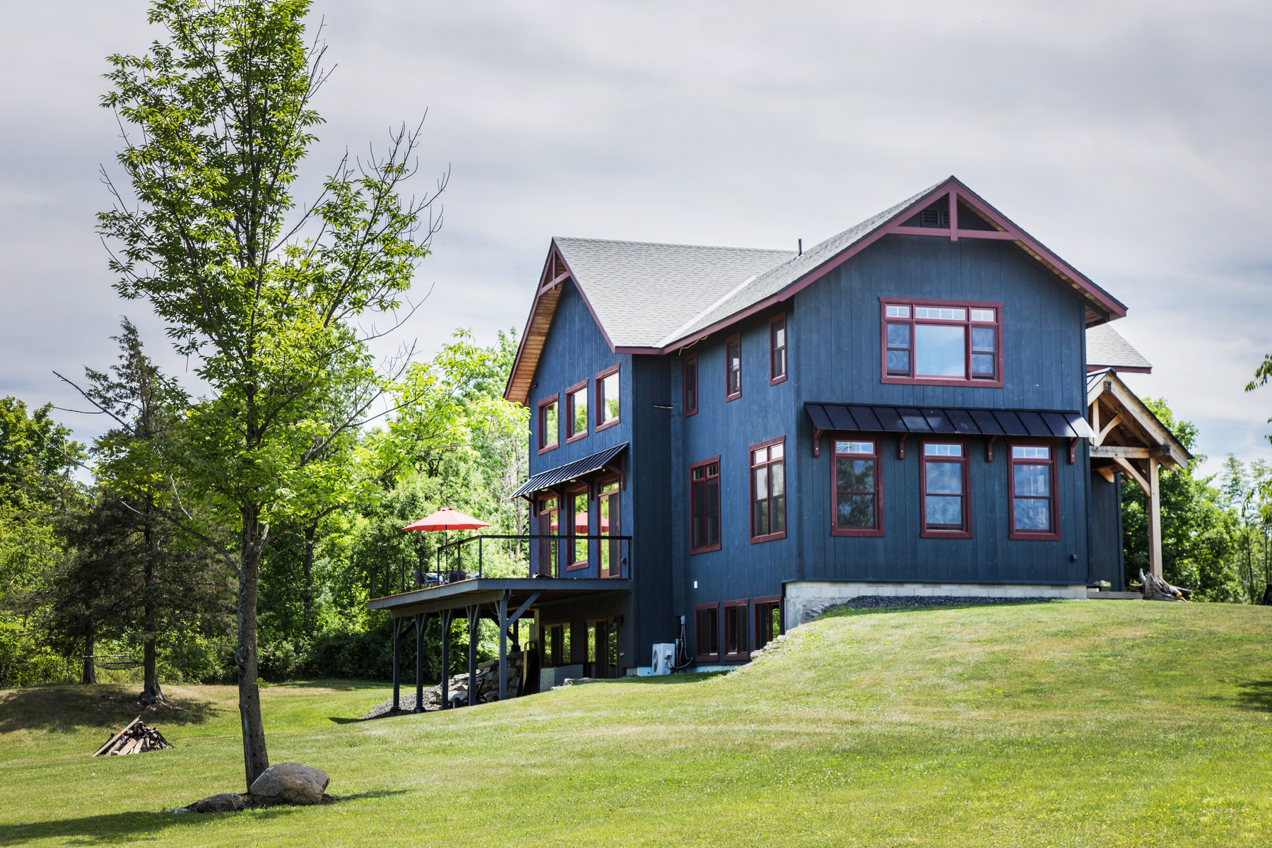 Single Family Home for Sale at Custom Post & Beam-Glorious Views-Super Stylish 257 Lake Rd Benson, Vermont 05731 United States