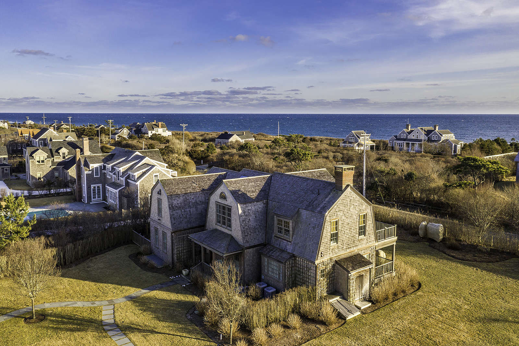 Single Family Home for Active at Stunning South Shore Compound 22 Nonantum Avenue Nantucket, Massachusetts 02554 United States