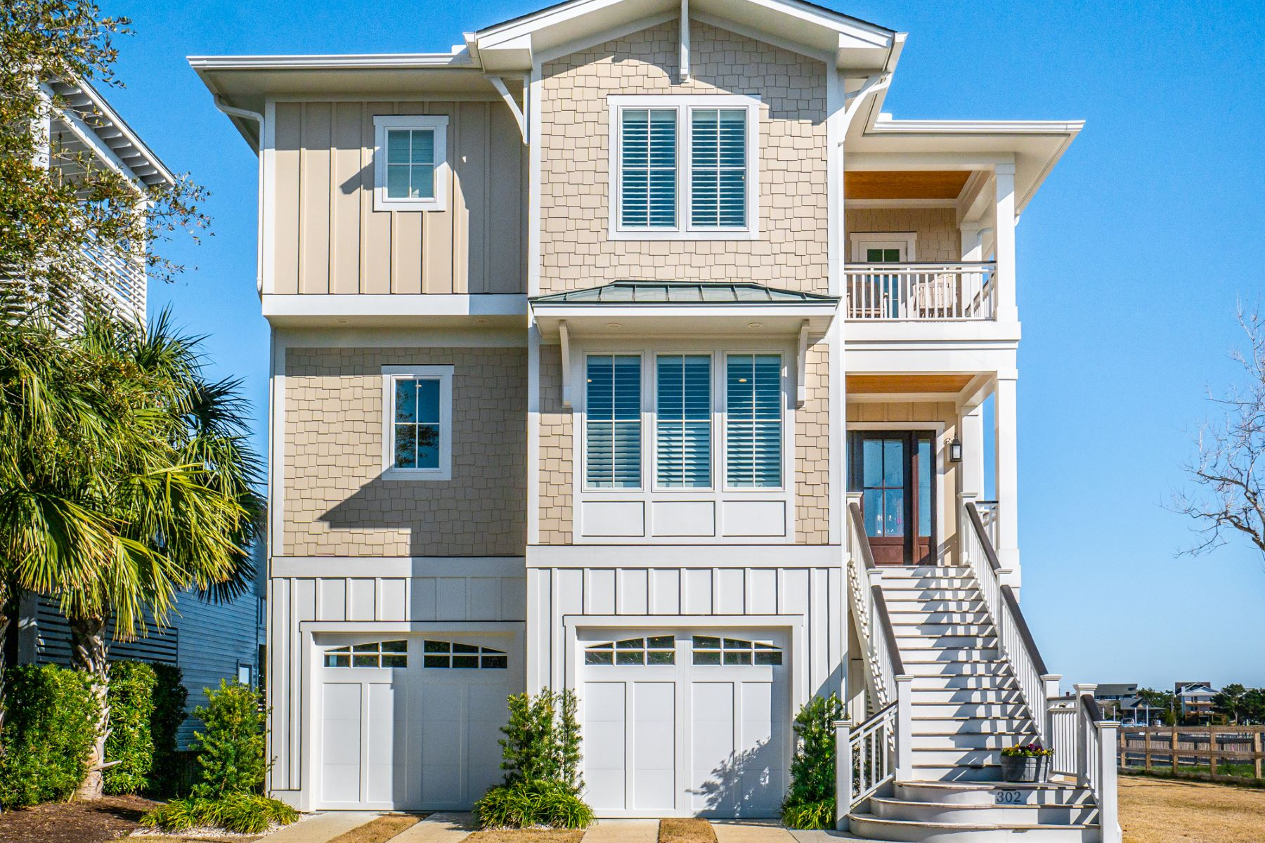 Single Family Homes for Sale at Exquisite Waterfront Home 302 N Channel Drive Wrightsville Beach, North Carolina 28480 United States