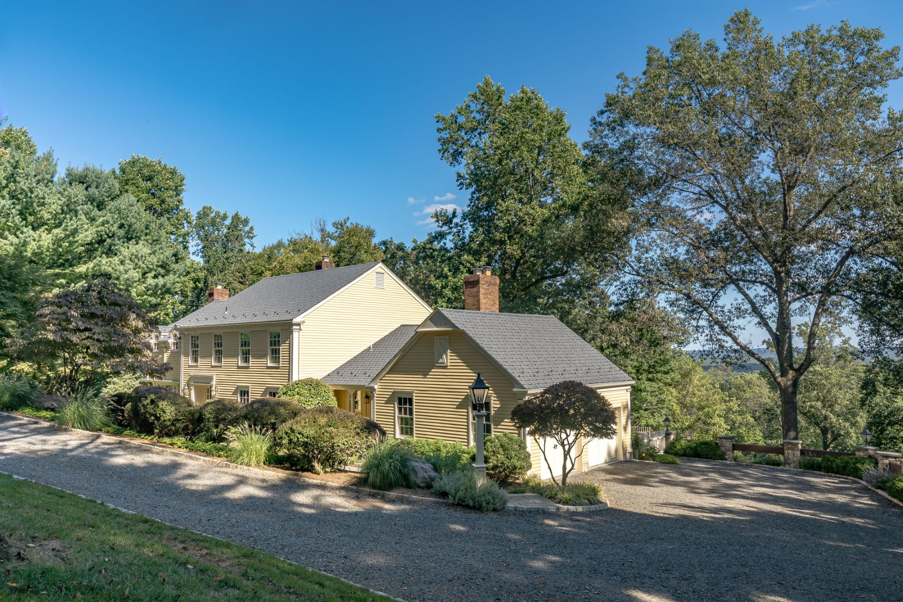 Single Family Homes for Sale at Exceptional Colonial 127 Old Army Road Basking Ridge, New Jersey 07920 United States