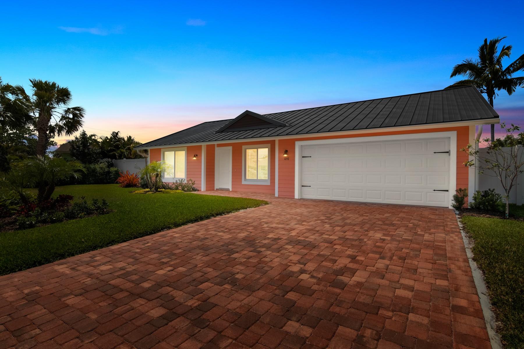 Einfamilienhaus für Verkauf beim 490 SW Beachway Avenue Seagate Harbor, Palm City, Florida, 34990 Vereinigte Staaten