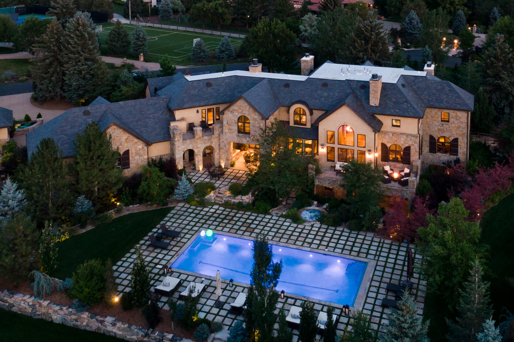 Single Family Homes for Active at Stately Manor Boasting Rustic Elegance 5901 Piedmont Drive Cherry Hills Village, Colorado 80111 United States