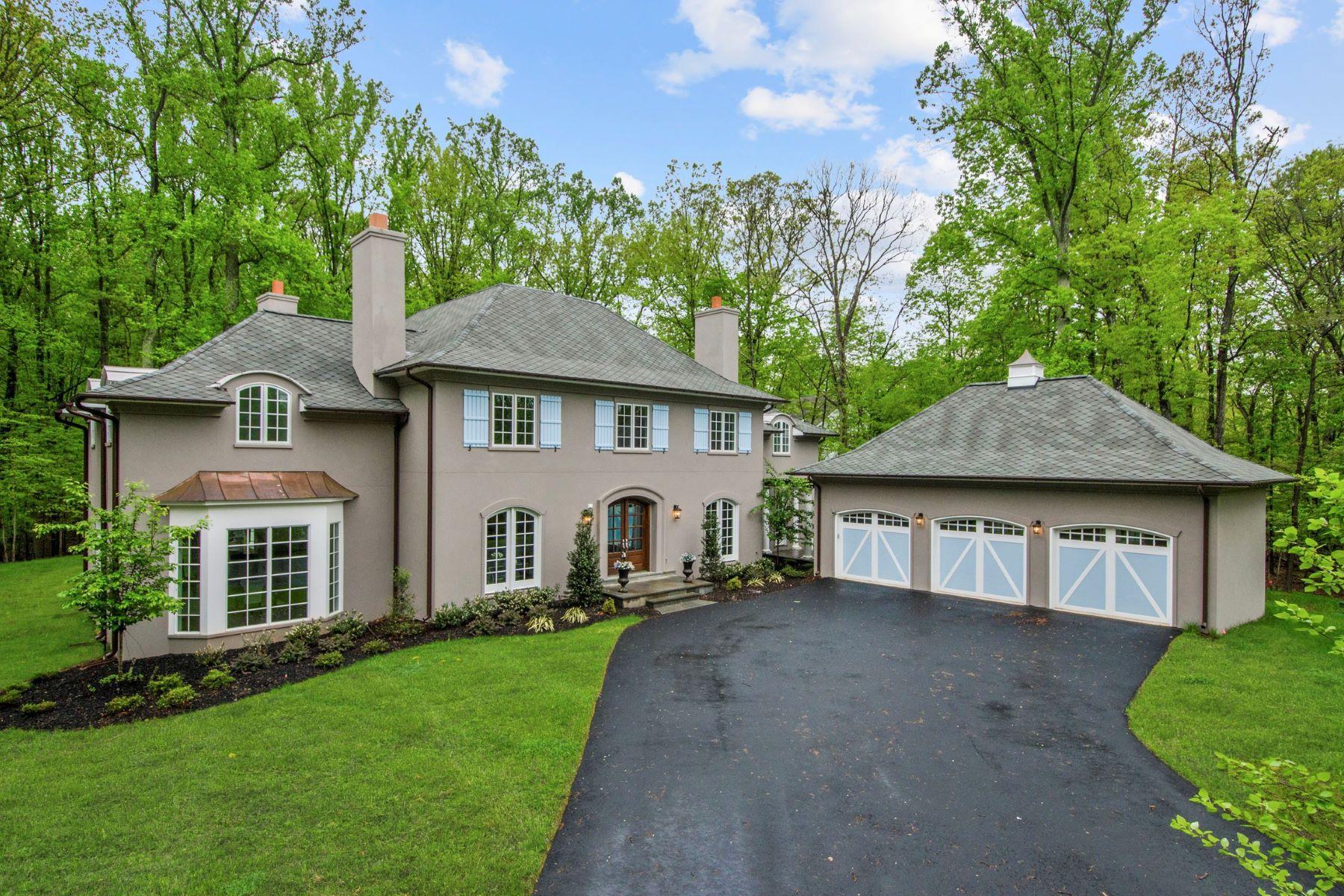 Casa Unifamiliar por un Venta en Brand New Home on Over 2 Acres in Great Falls Park 9165 Old Dominion Dr McLean, Virginia, 22102 Estados Unidos