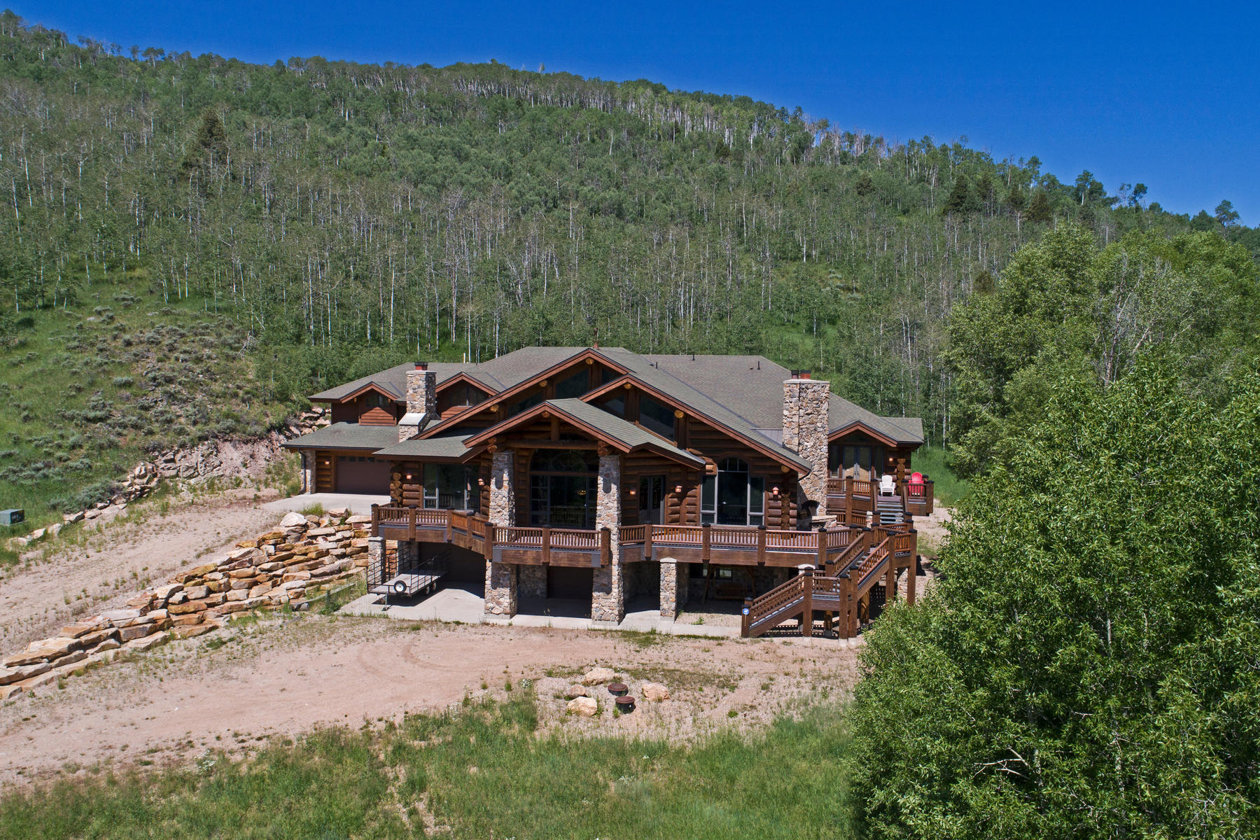 Additional photo for property listing at Amazing One of a Kind Log Home on 160 Acres! 3950 E Weber Canyon Rd Oakley, Utah 84055 United States