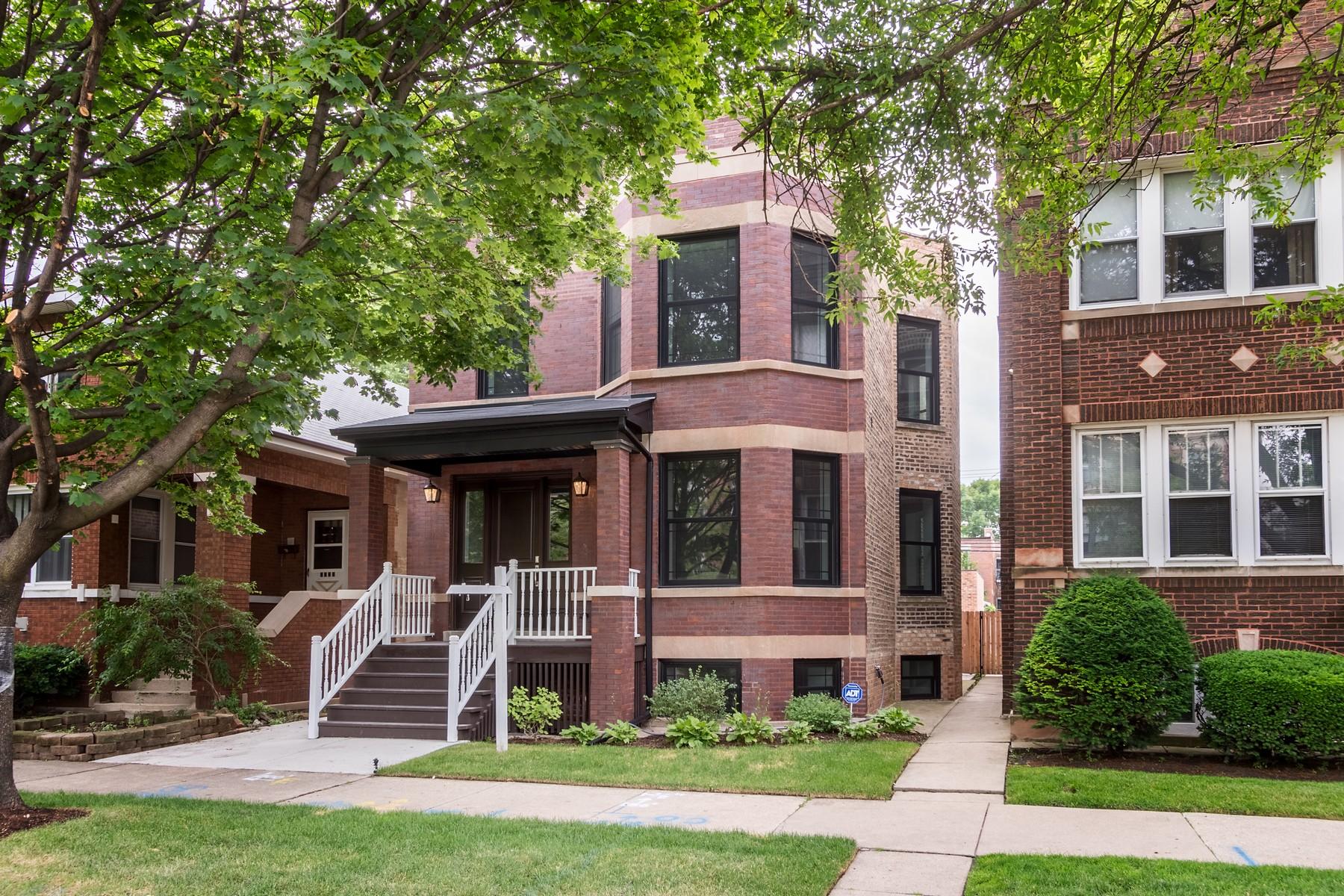獨棟家庭住宅 為 出售 在 Brand New Home in North Center 3719 N Oakley Avenue Chicago, 伊利諾斯州, 60618 美國