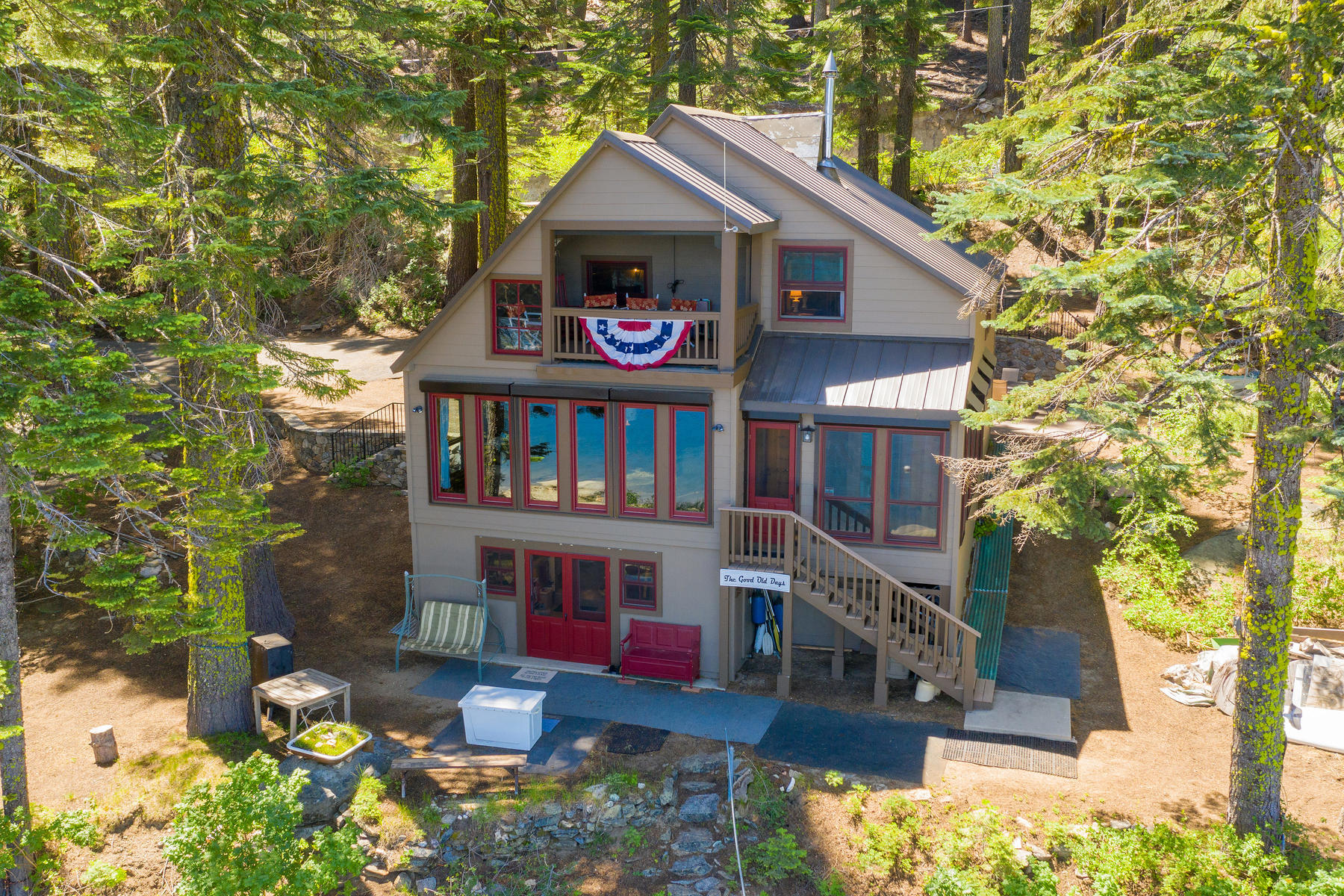 Single Family Homes for Sale at Lake front Bucks Lake Cabin. 16247 Bucks Lake Road Bucks Lake, California 95971 United States