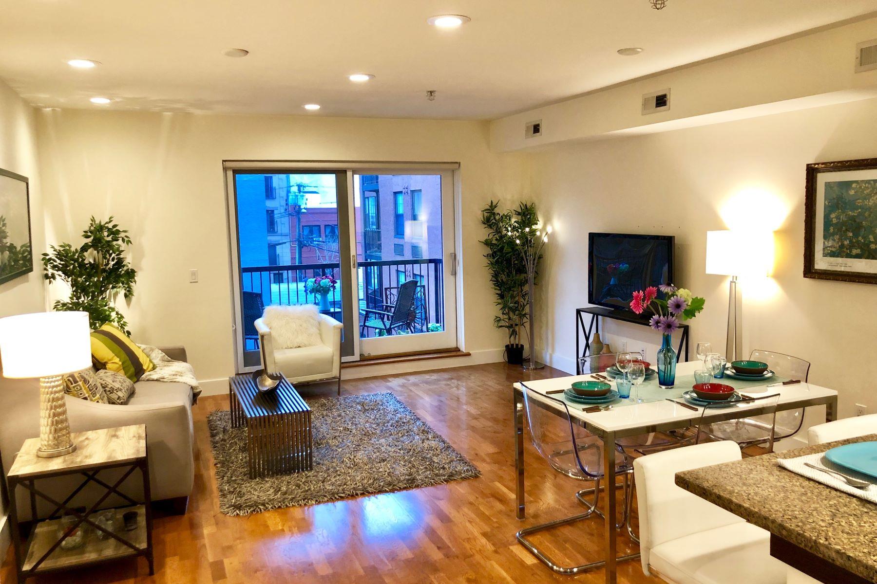 Condominium for Sale at Boutique elevator building 3 bed, 3 bath duplex condo 109 Harrison Street #302, Hoboken, New Jersey 07030 United States