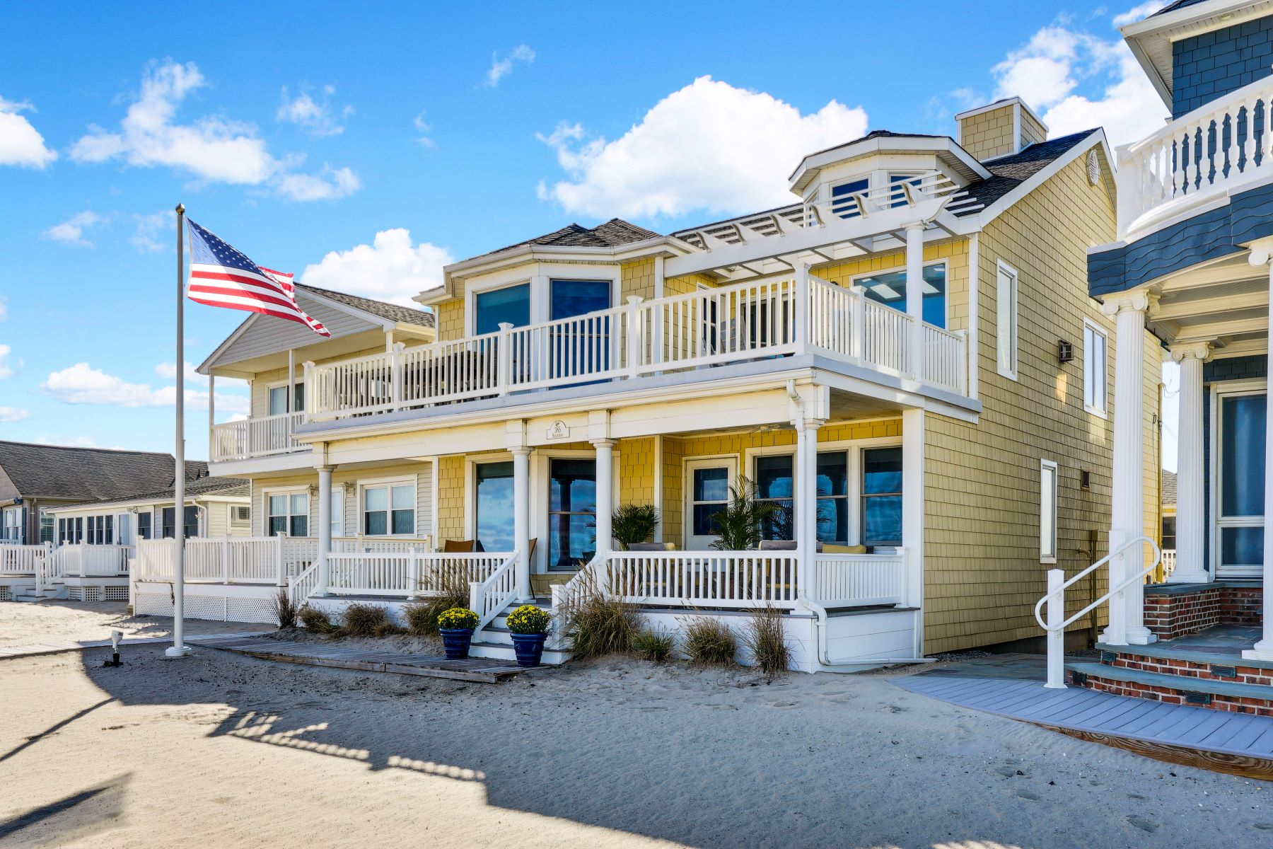 Single Family Homes for Sale at Beachfront Home 385 Beachfront Manasquan, New Jersey 08736 United States