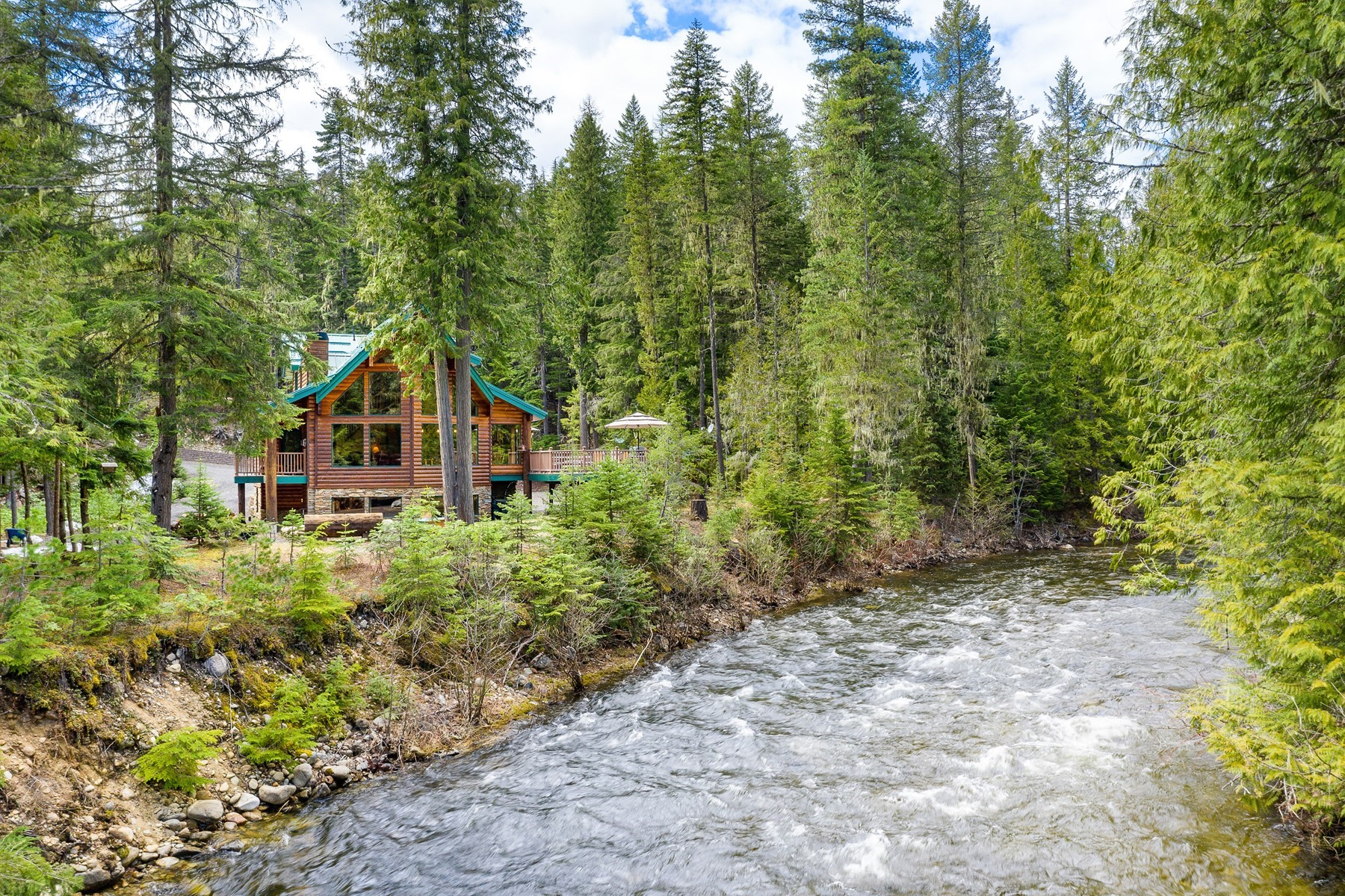 Single Family Homes للـ Sale في Granite Creek Retreat 312 Kerr Rd, Nordman, Idaho 83848 United States