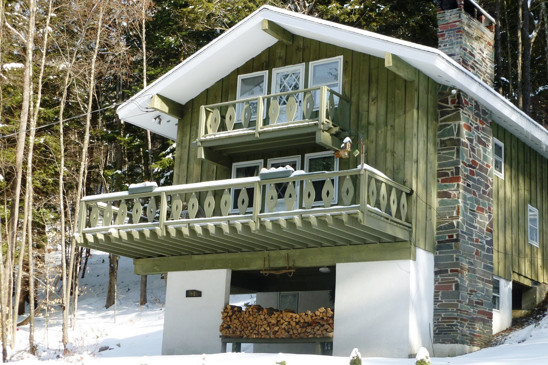 Single Family Homes for Sale at Classic Chalet in Townshend 92 Harwood Pl Townshend, Vermont 05353 United States