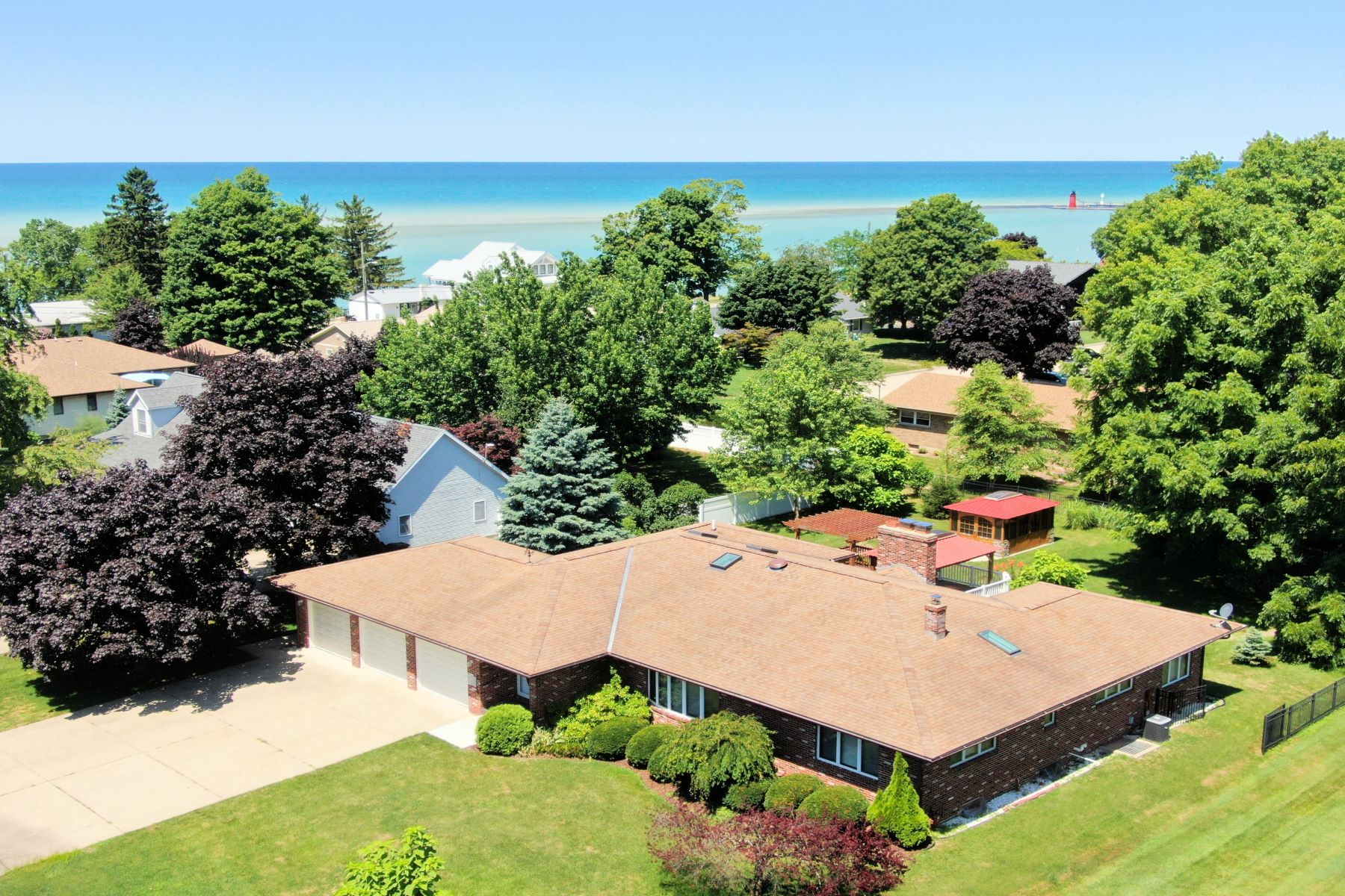 Single Family Homes for Active at Stunning Home in Tranquil Location 75 Gabriel Drive South Haven, Michigan 49090 United States