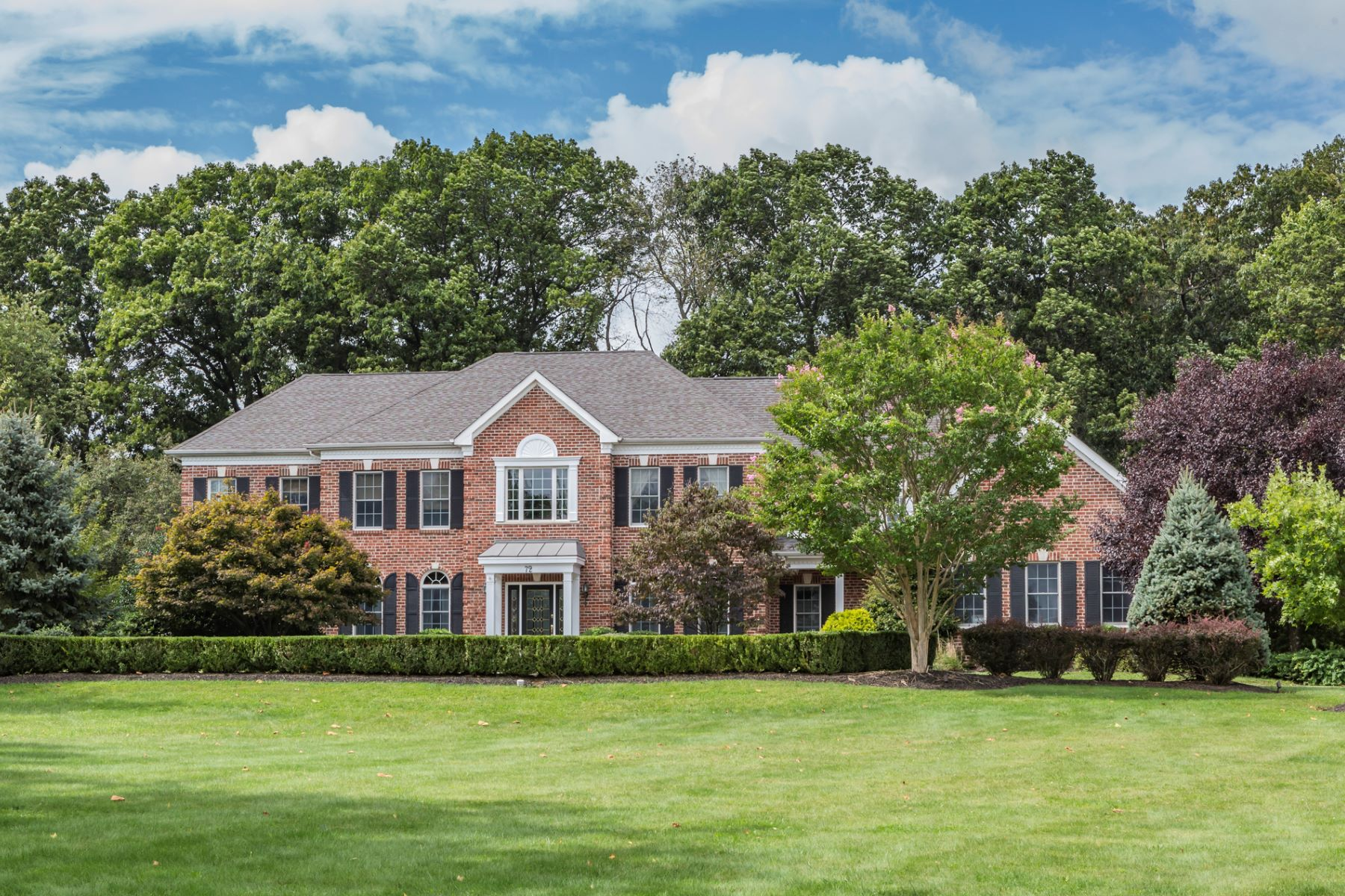 Maison unifamiliale pour l Vente à Distinguished Craftsmanship Is On Display - Montgomery Township 72 Concord Lane, Skillman, New Jersey 08558 États-UnisDans/Autour: Montgomery Township