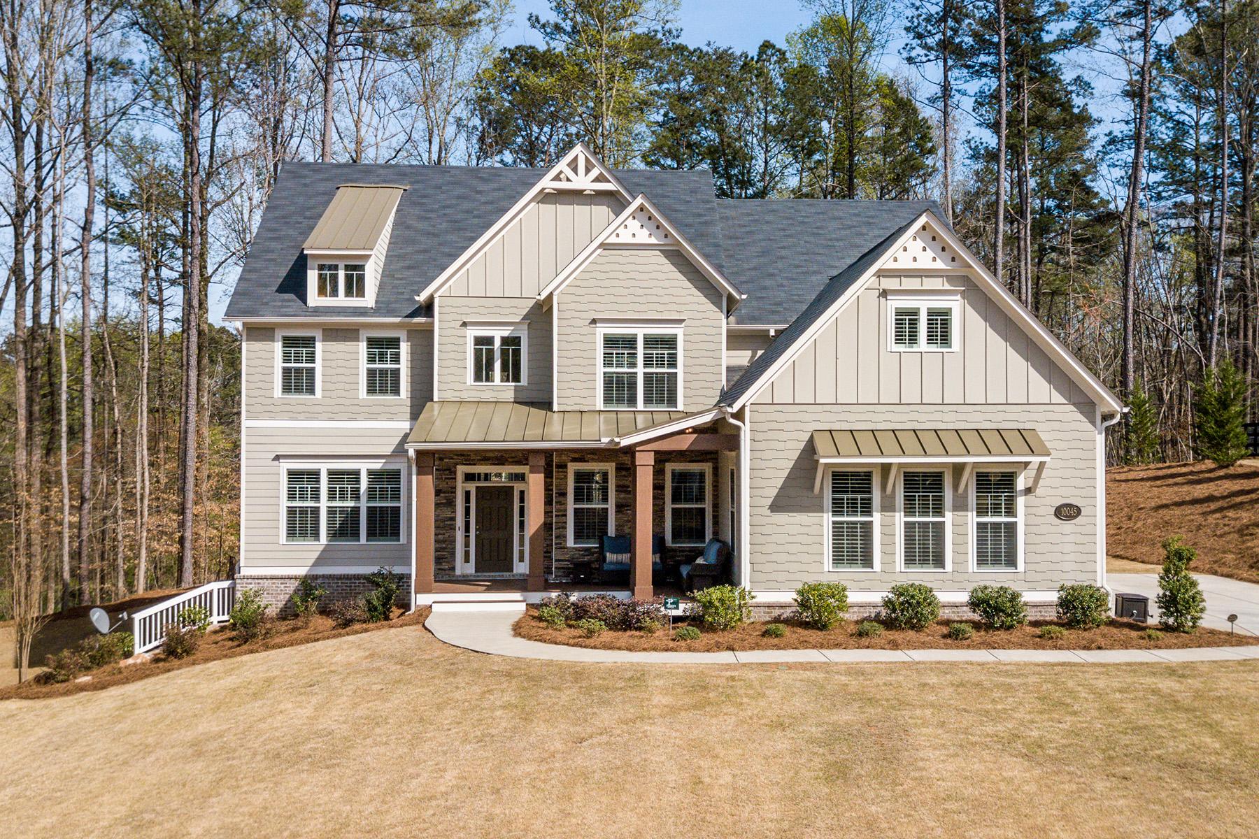 Property для того Продажа на Custom Craftsman 10045 Peaks Parkway, Milton, Джорджия 30004 Соединенные Штаты