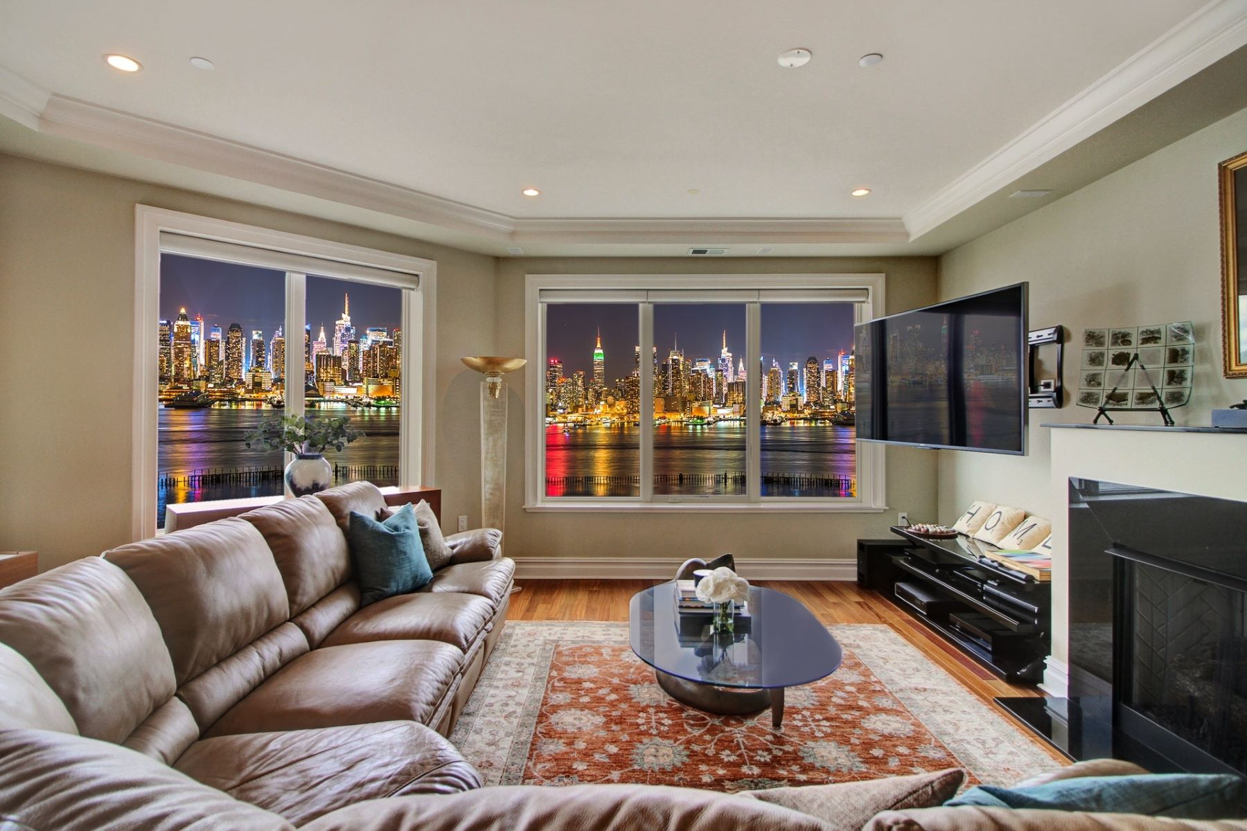 Condominiums for Sale at Nothing like this is available! Enjoy unobstructed panoramic views of NYC 250 Henley PL #402, Weehawken, New Jersey 07086 United States