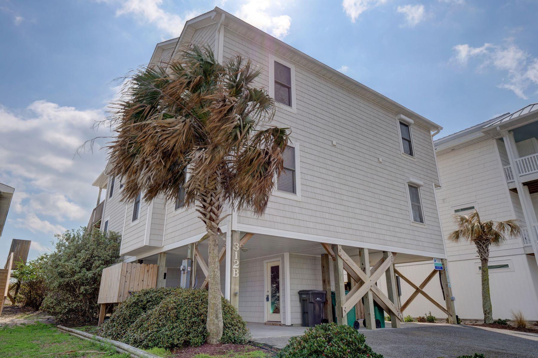 تاون هاوس للـ Sale في Captivating Oceanfront Townhouse 312 N Shore Drive B, Surf City, North Carolina, 28445 United States