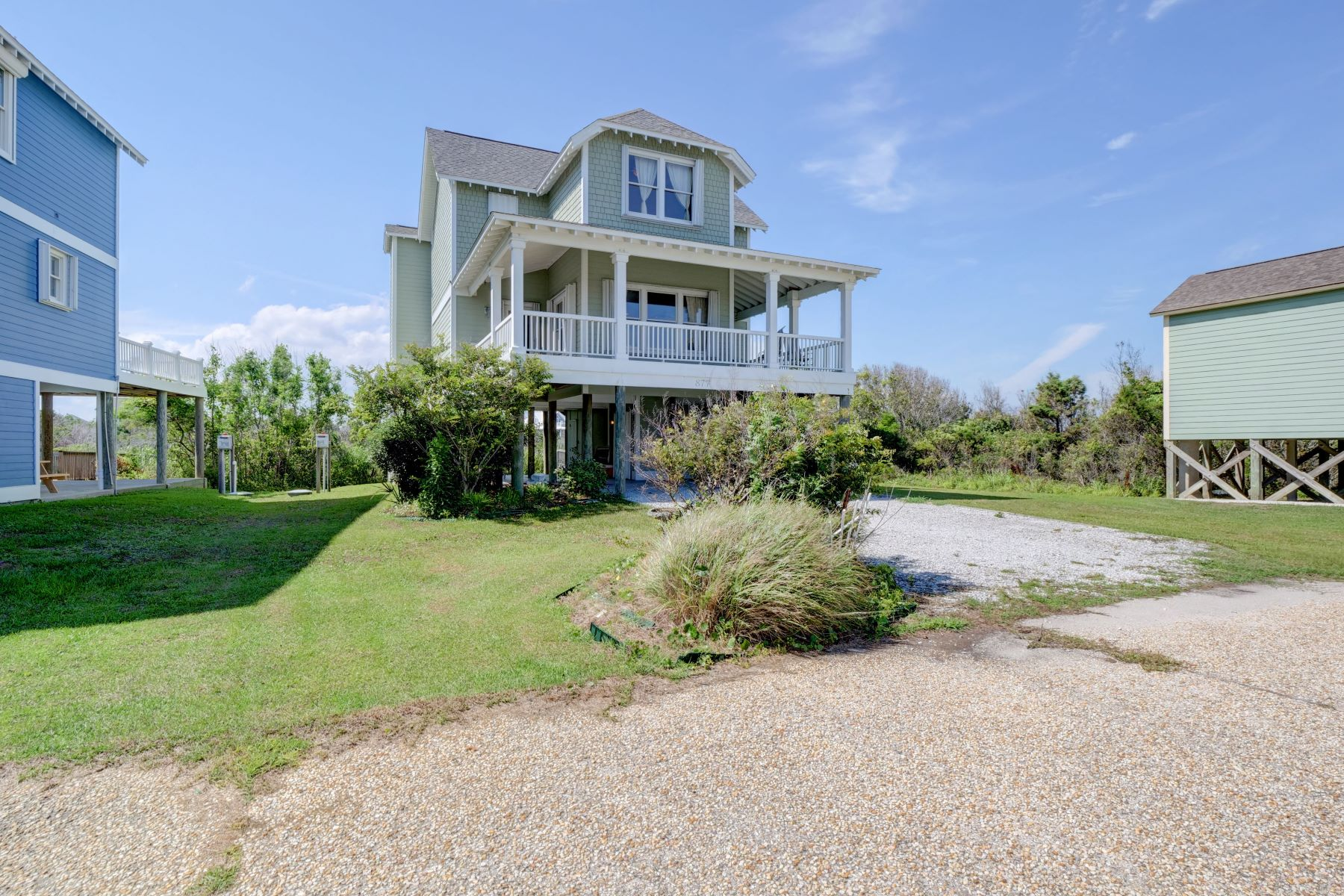 Single Family Homes por un Venta en Tranquil Marsh Front Retreat in North Topsail 877 New River Inlet Road, N Topsail Beach, Carolina Del Norte 28460 Estados Unidos