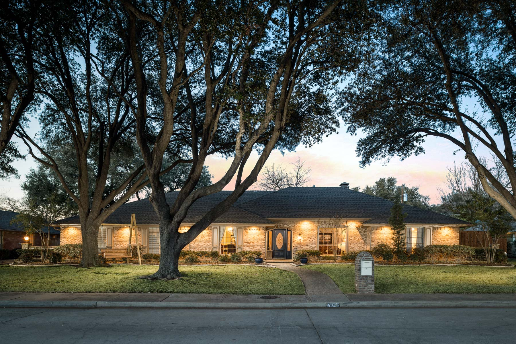 Single Family Home for Sale at Picturesque Traditional Updated Ranch 4325 Willow Lane, Dallas, Texas, 75244 United States