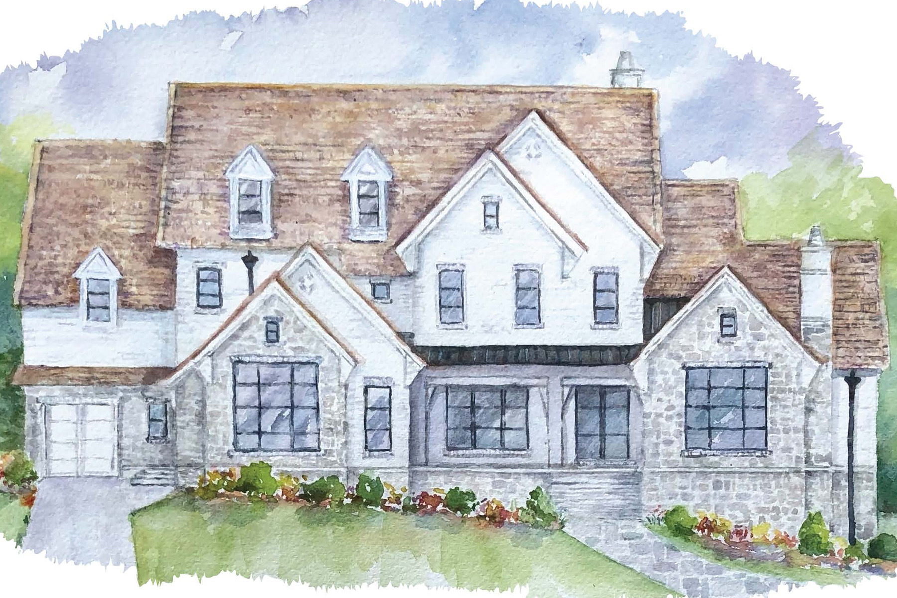 Single Family Homes for Sale at Stunning Stone And Painted Brick New Build 5110 Marbury Circle Sandy Springs, Georgia 30327 United States