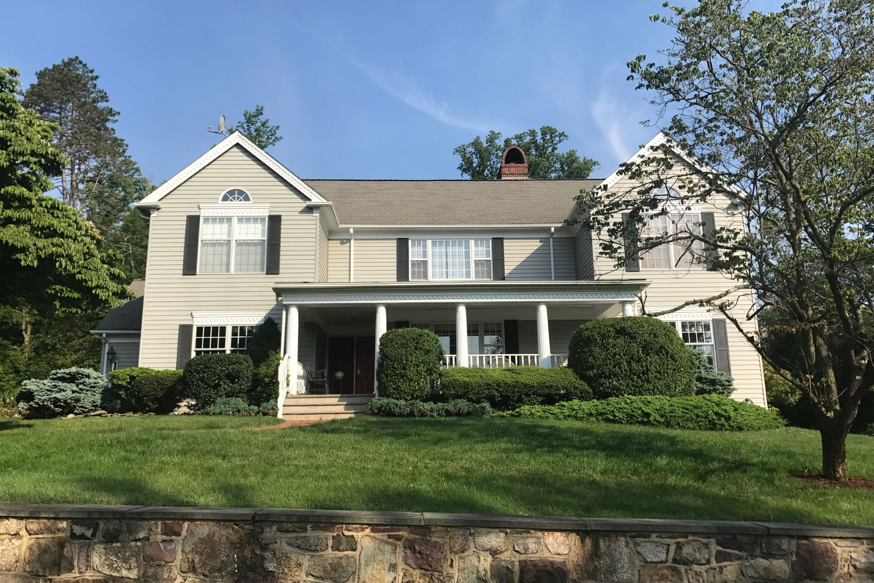 Single Family Home for Sale at Center Hall Colonial 12 Hillside Avenue Bernardsville, New Jersey 07924 United States
