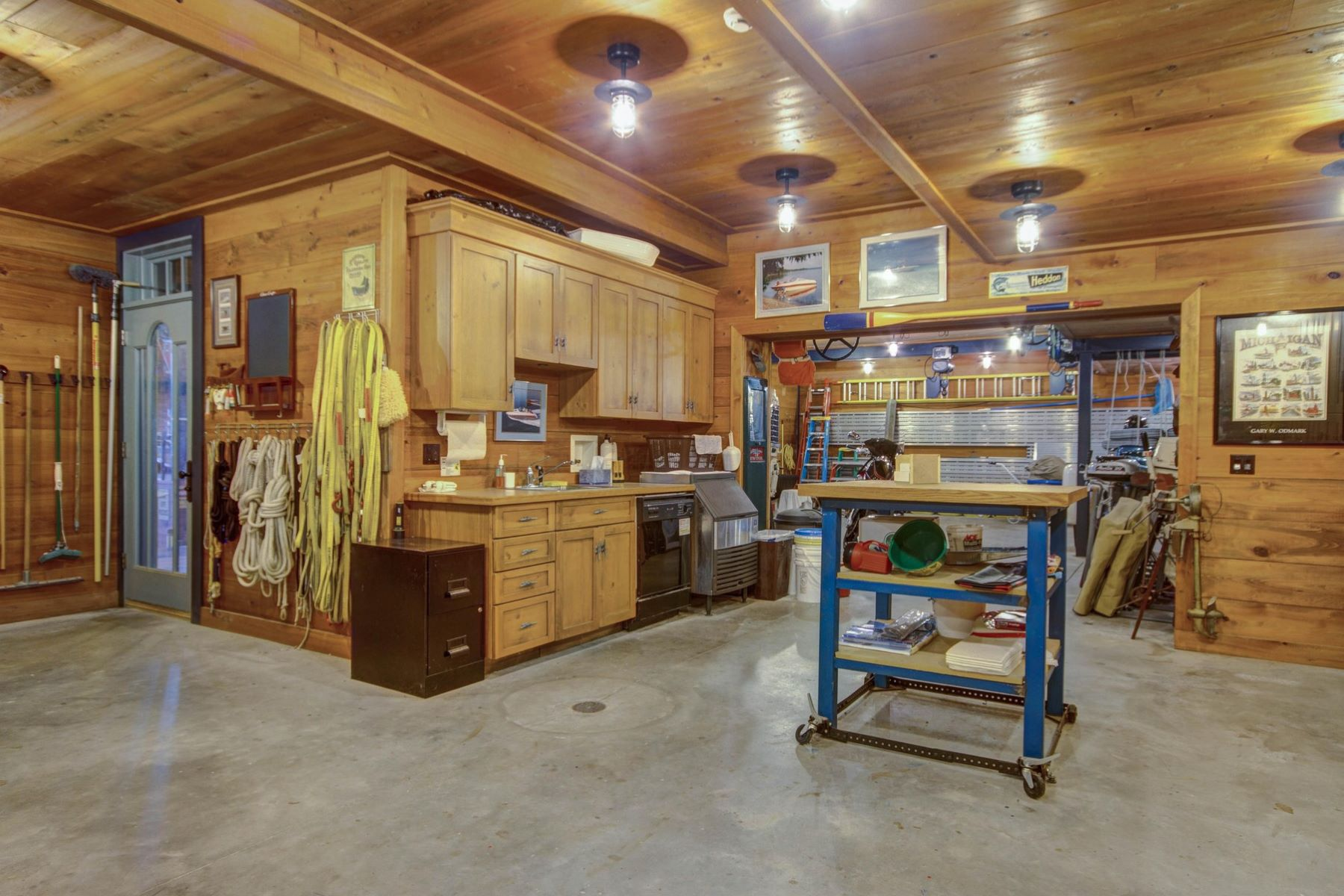 Additional photo for property listing at Round Lake Estate and Boathouse 125 Belvedere Avenue Charlevoix, Michigan 49720 United States