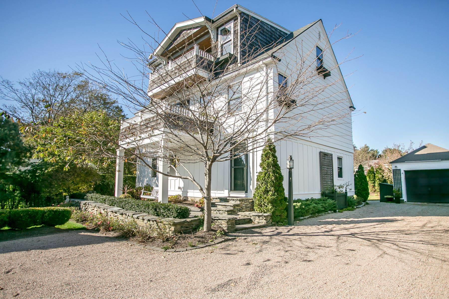 Single Family Homes for Sale at Renovated Cape with Water Views 58 Ruggles Avenue Newport, Rhode Island 02840 United States