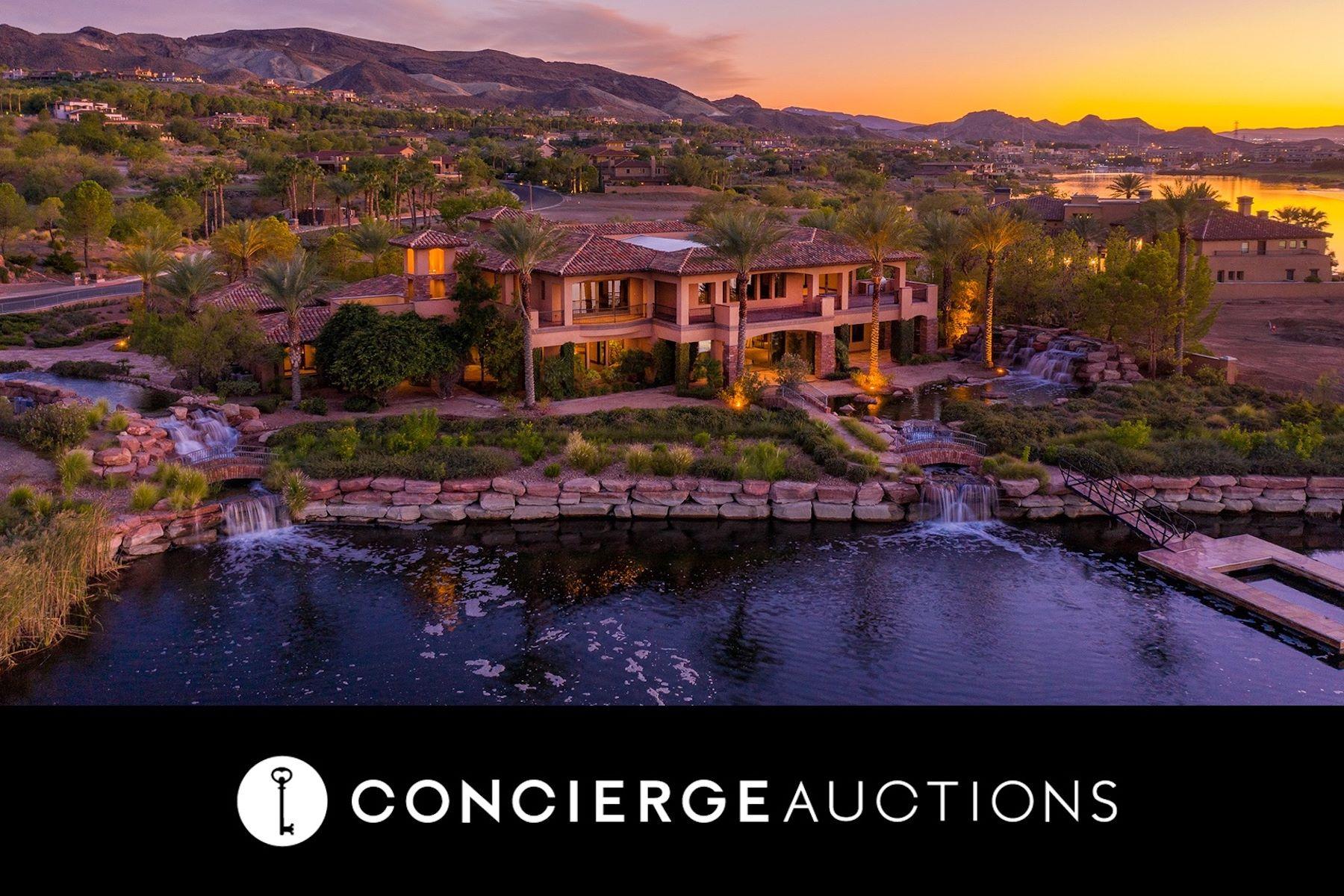 Single Family Homes для того Продажа на The Lake House at Southshore Lake Las Vegas 43 Rue Mediterra Drive, Henderson, Невада 89011 Соединенные Штаты