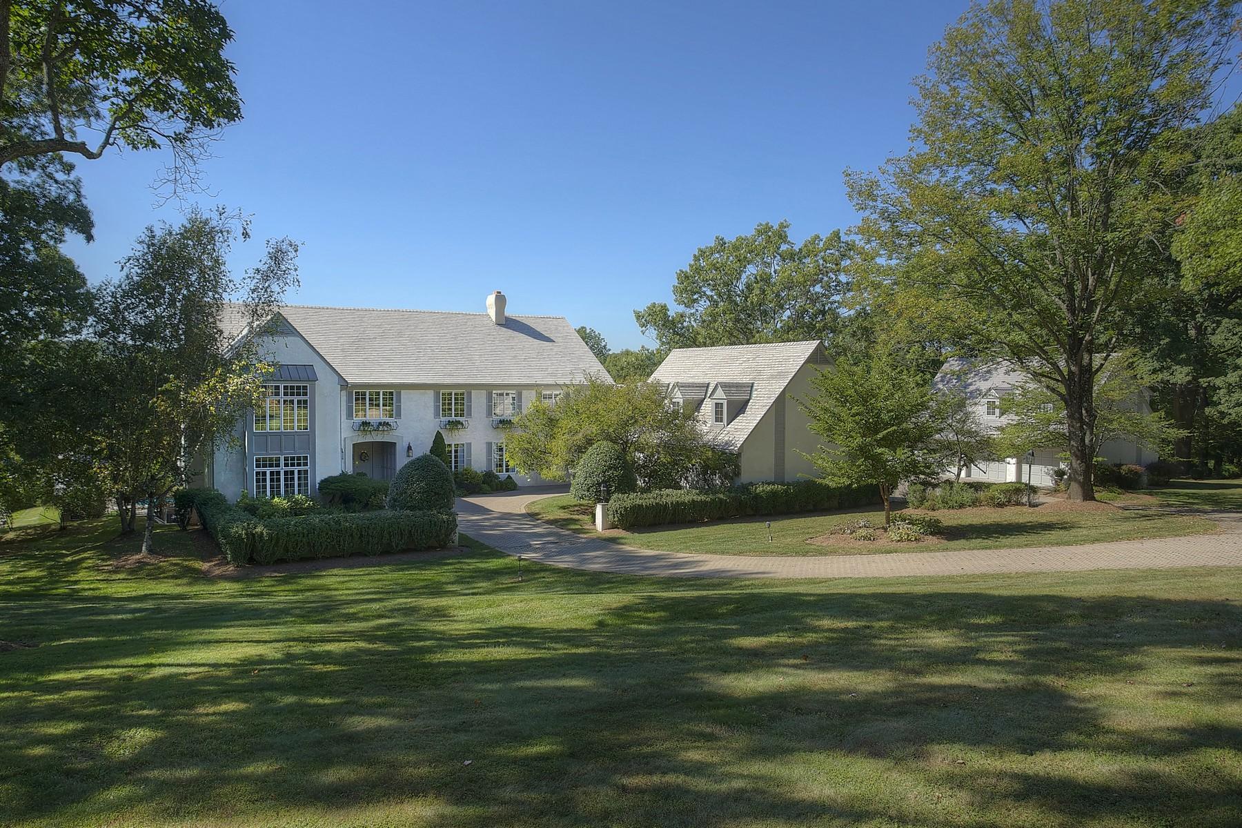 Maison unifamiliale pour l Vente à Extraordinary French Normandy 19 Balbrook Drive Mendham, New Jersey, 07945 États-Unis
